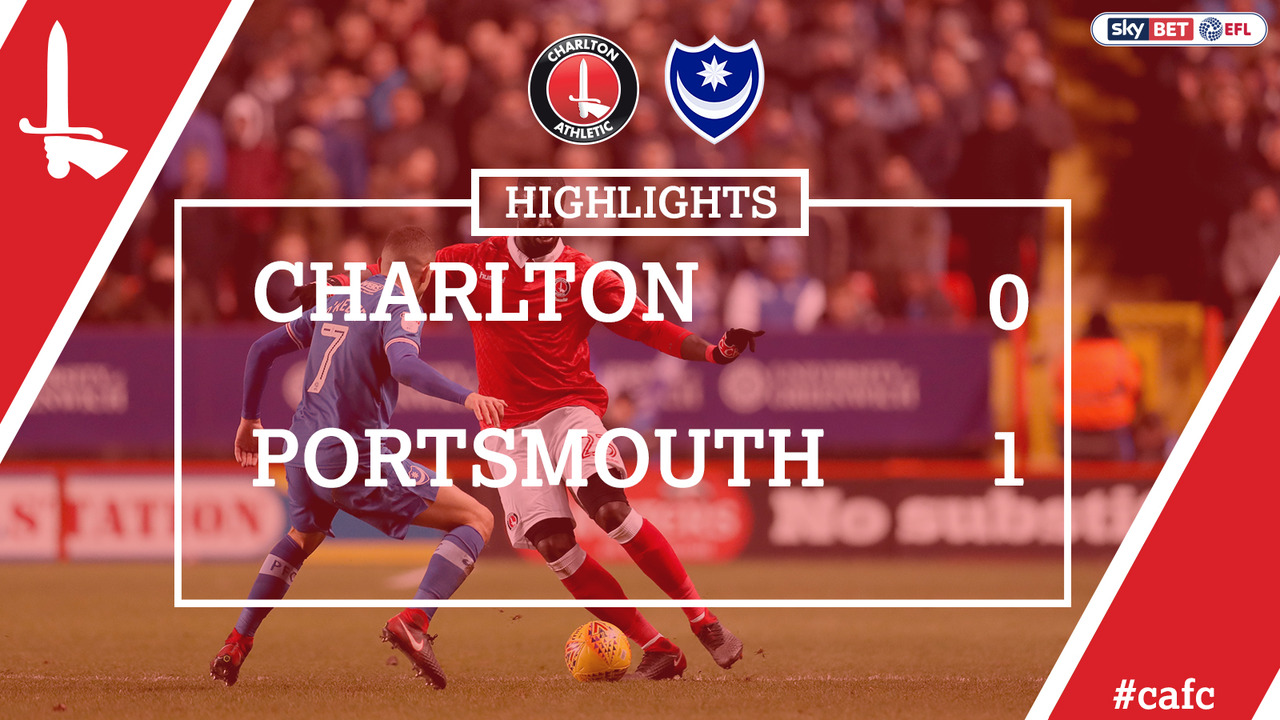 28 HIGHLIGHTS | Charlton 0 Portsmouth 1 (Dec 2017)