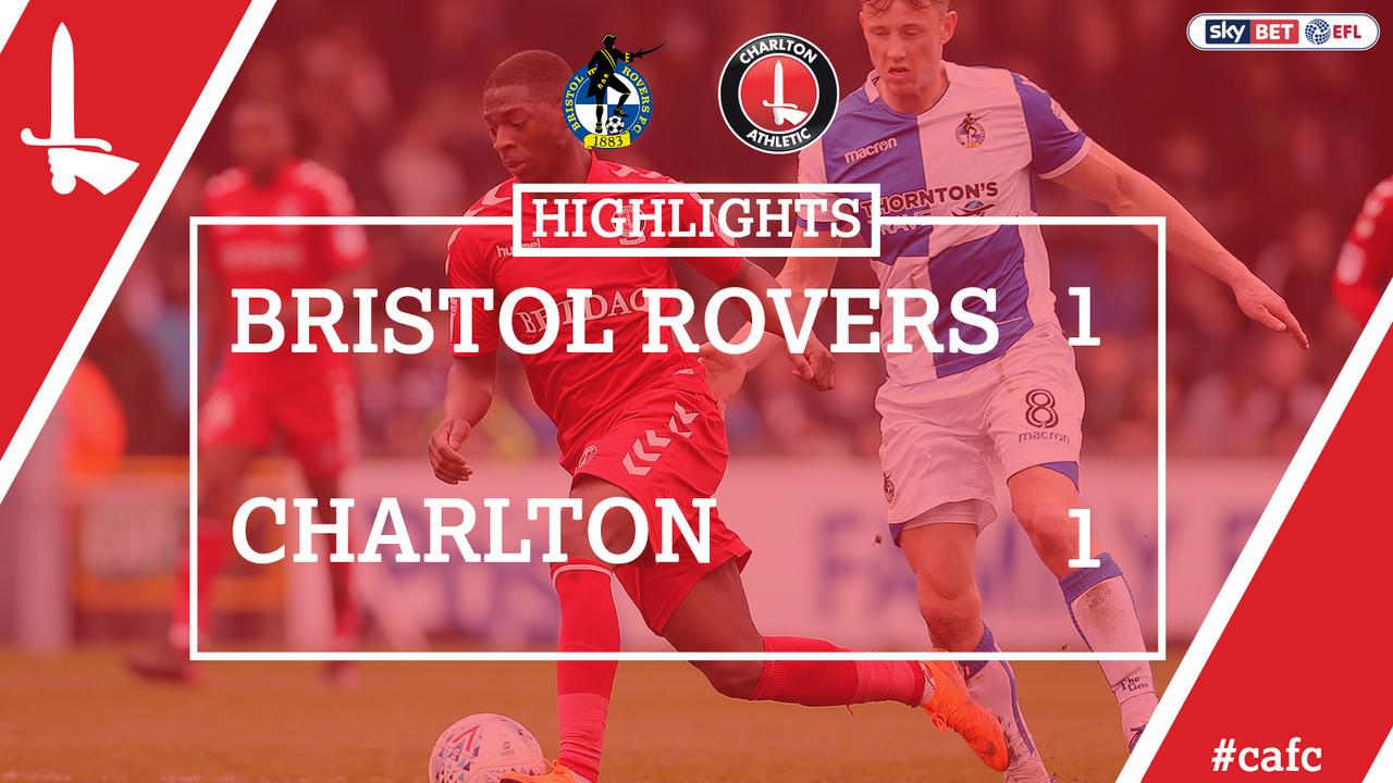 49 HIGHLIGHTS | Charlton 1 Bristol Rovers 1 (April 2018)