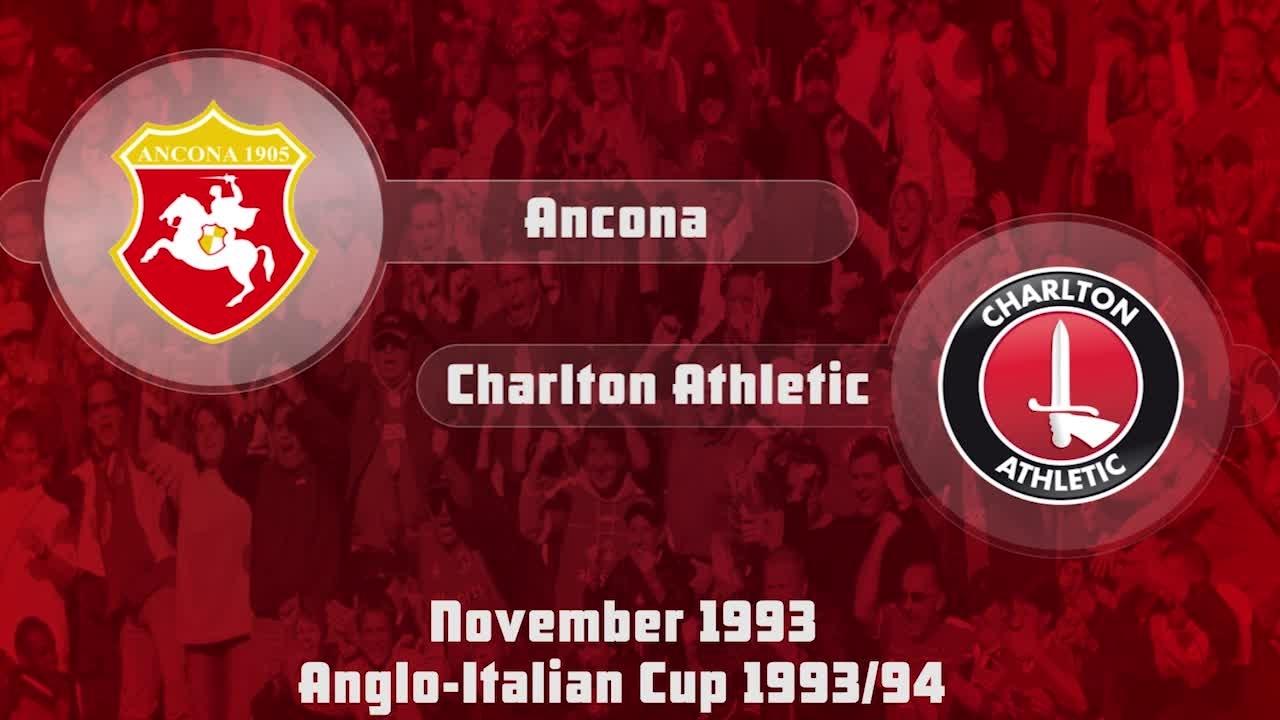 22 HIGHLIGHTS | Ancona 1 Charlton 1 (Anglo-Italian Cup Nov 1993)