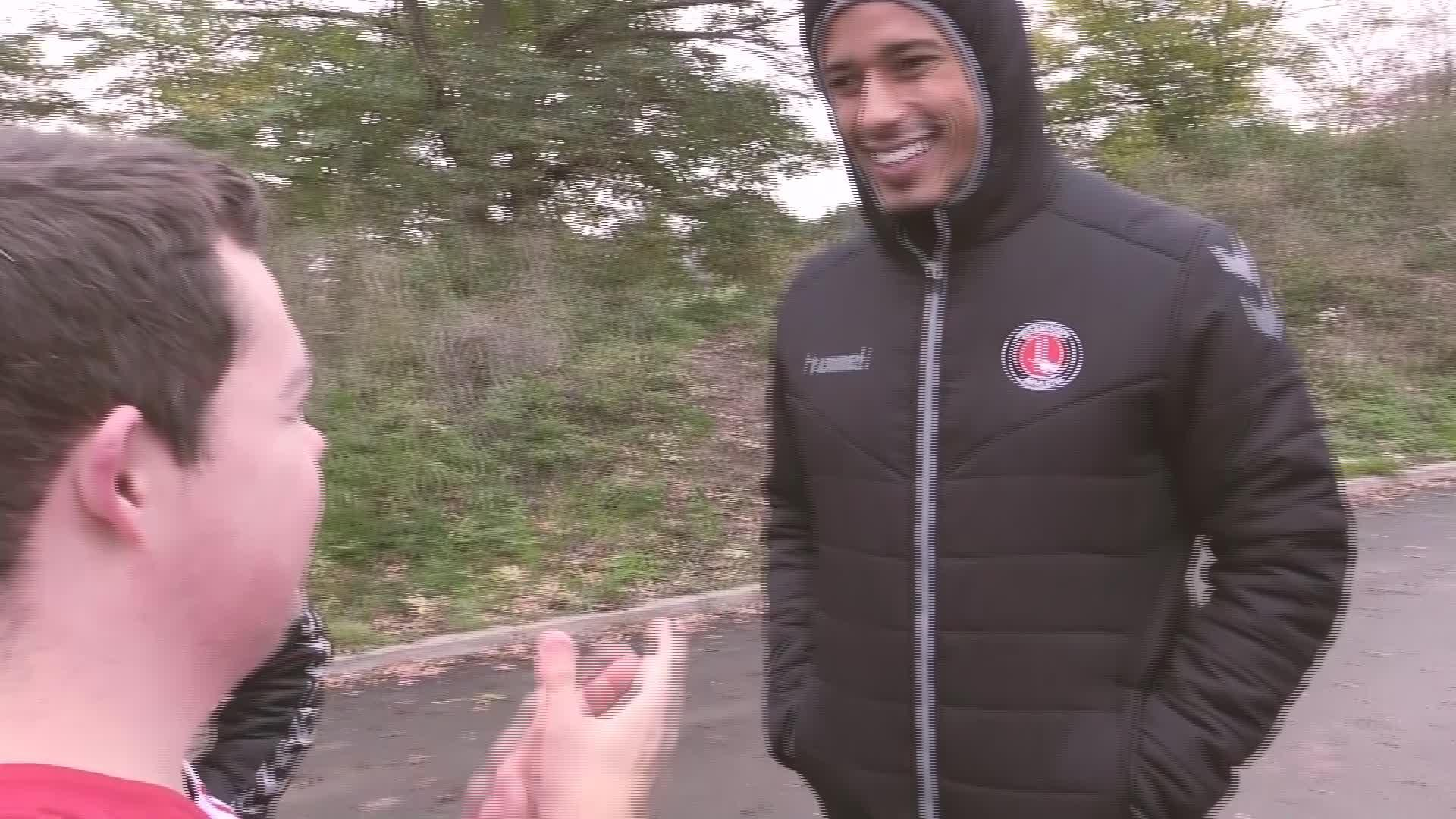 Lyle Taylor and Darren Pratley surprise the Charlton Upbeats