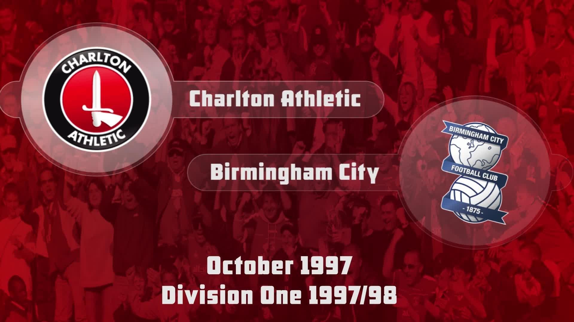 14 HIGHLIGHTS | Charlton 1 Birmingham 1 (Oct 1997)