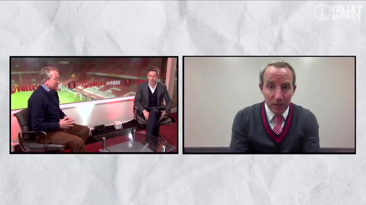 Lee Bowyer spoke to Valley Pass Live after his side's win at MK Dons (January 2021)
