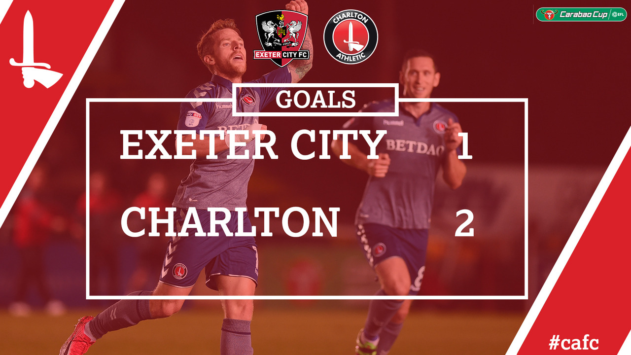 GOALS | Exeter 1 Charlton 2 (Carabao Cup)