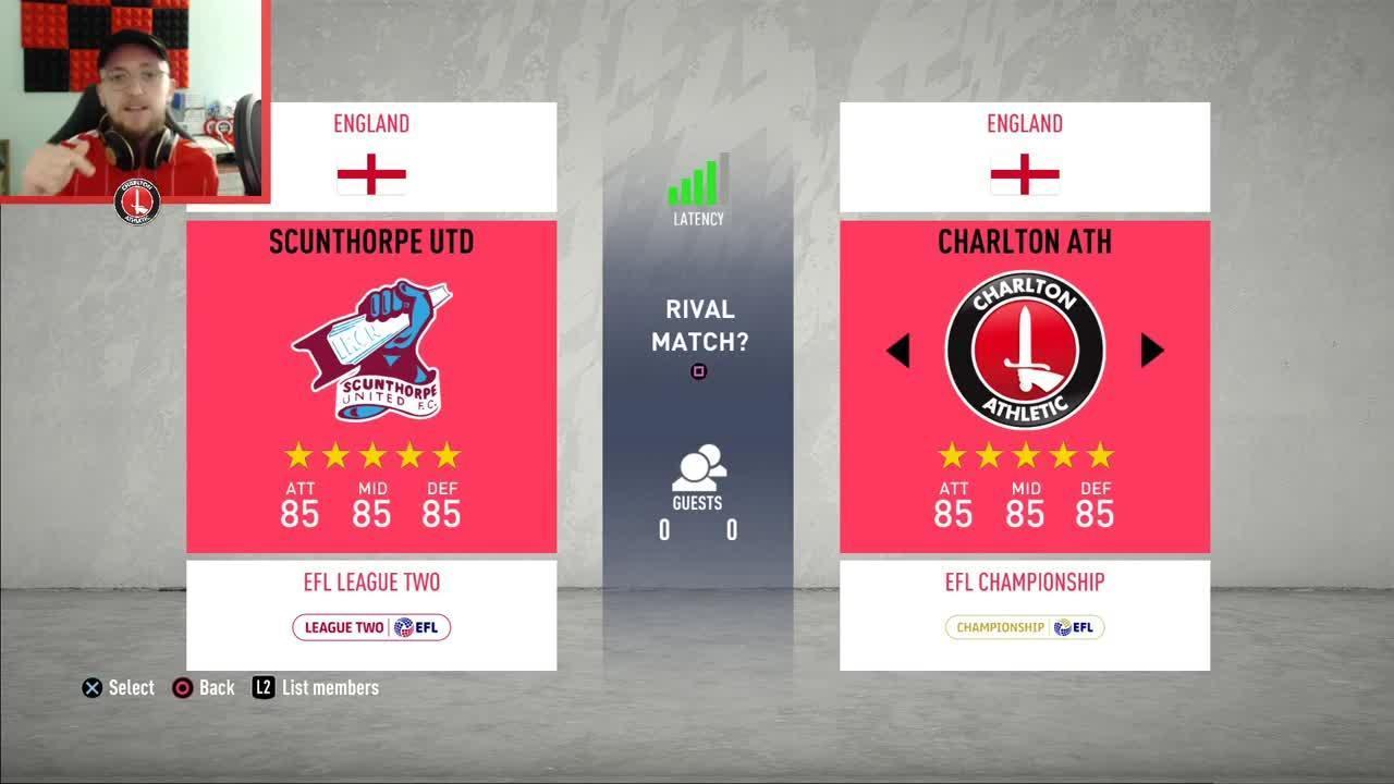 Charlton v Scunthorpe United | Ultimate Quaranteam Round 1