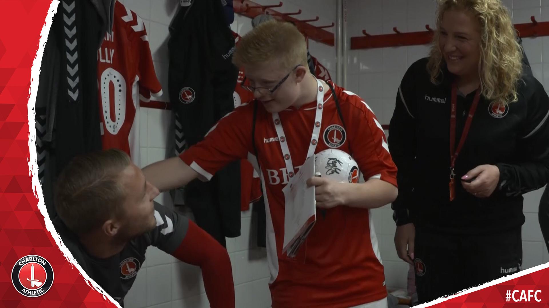 Charlton fan James' day as a matchday mascot