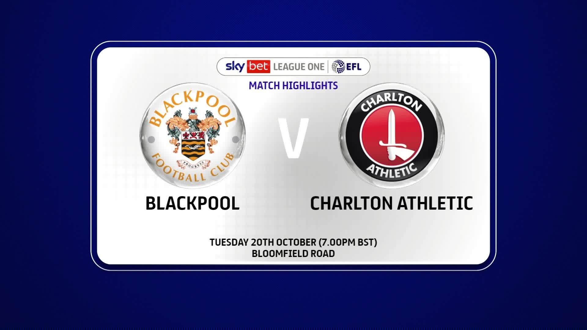 HIGHLIGHTS | Blackpool 0 Charlton 1 (October 2020)