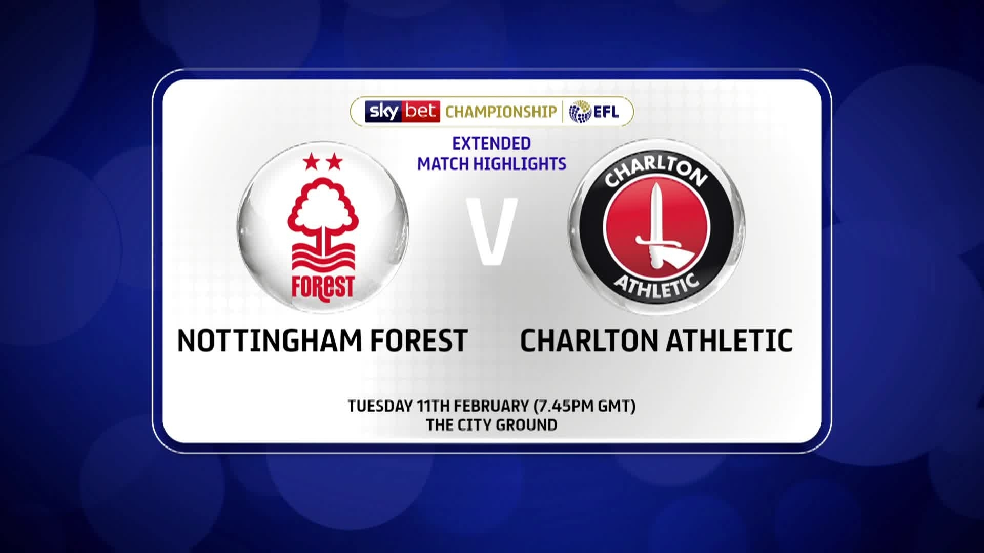EXTENDED | Nottingham Forest 0 Charlton 1 (February 2020)