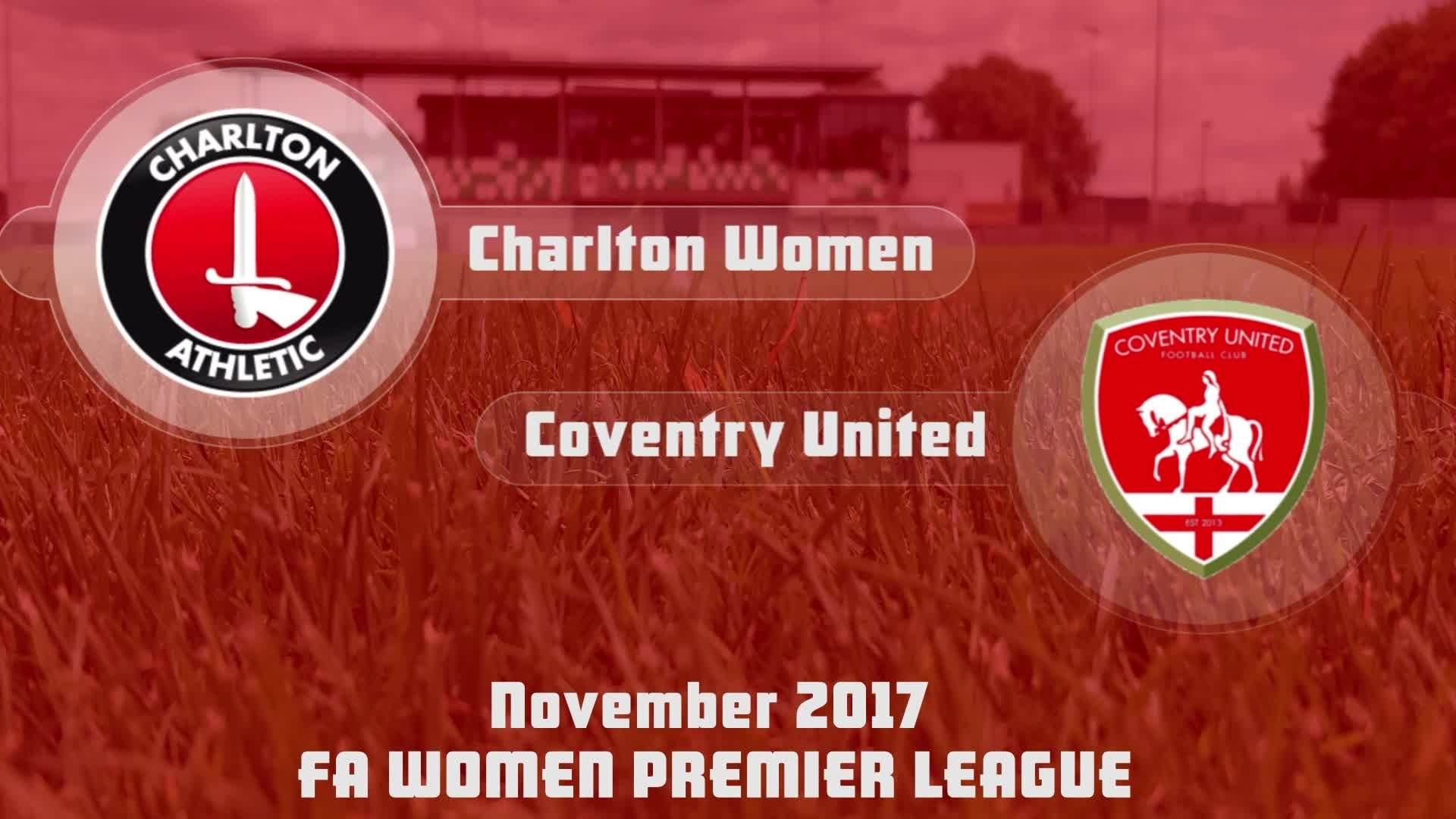WOMEN'S HIGHLIGHTS | Charlton 2 Coventry United 0