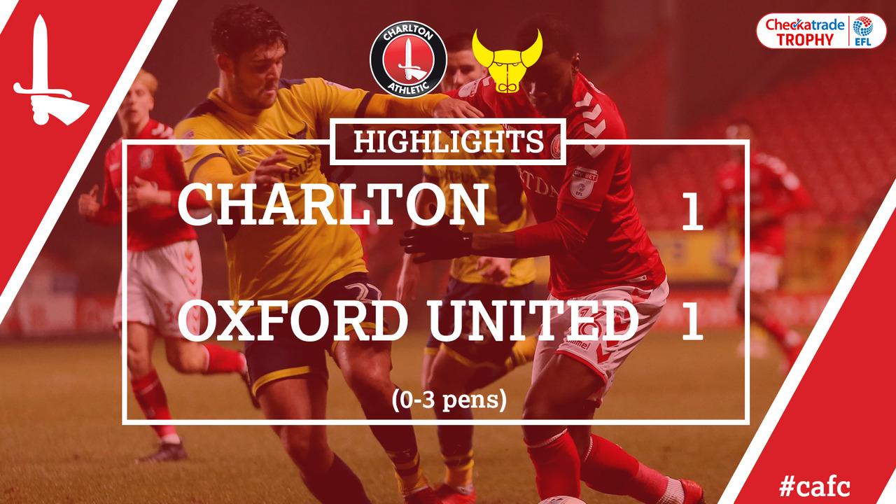 35 HIGHLIGHTS | Charlton 1 Oxford 1 (Pens 0-3) (Checkatrade Trophy Jan 2018)