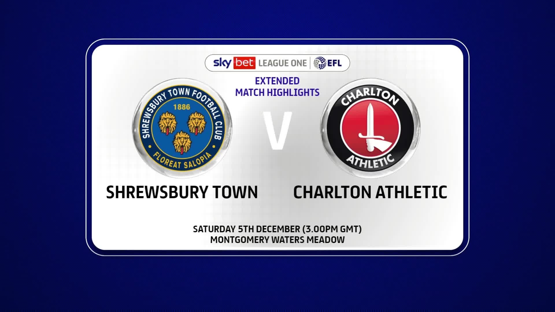 EXTENDED HIGHLIGHTS | Shrewsbury Town 1 Charlton 1 (December 2020)