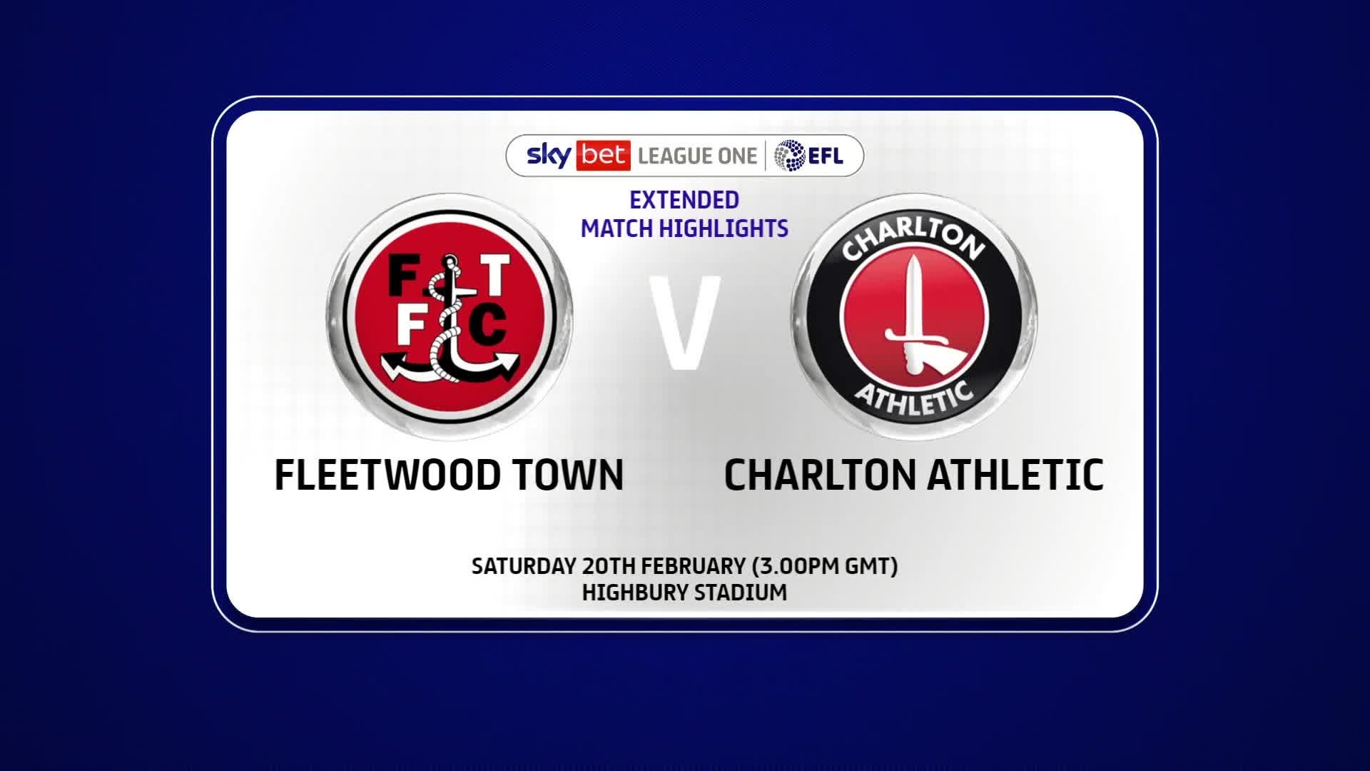 EXTENDED | Fleetwood Town 1 Charlton 1 (February 2021)