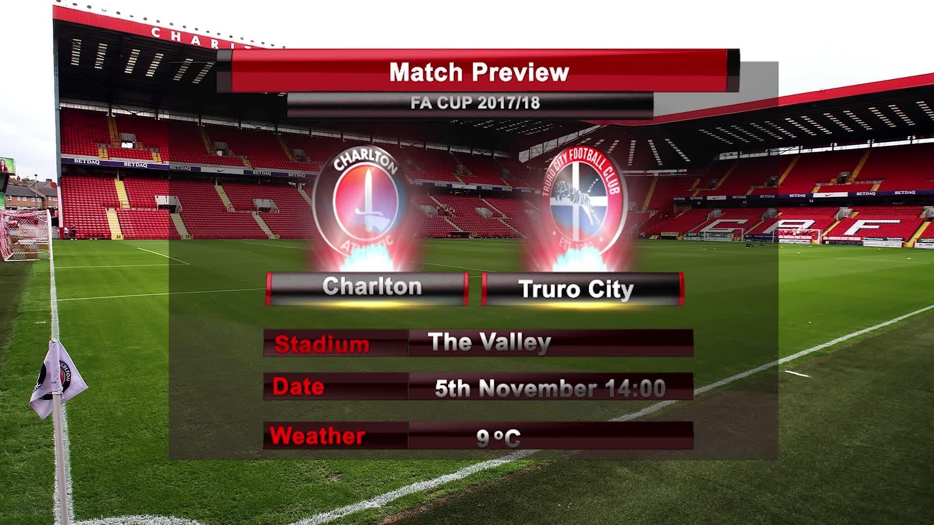 MATCH PREVIEW | Charlton vs Truro City