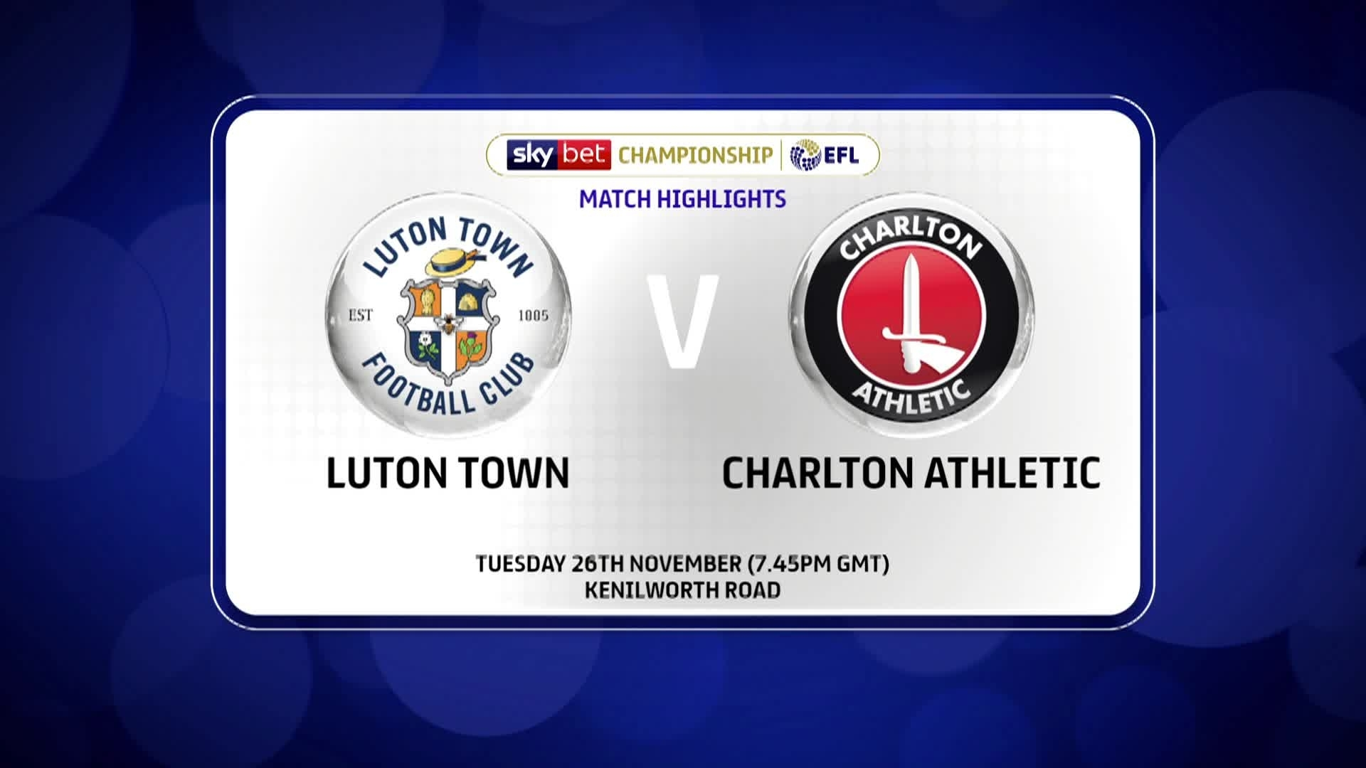 GOALS | Luton 2 Charlton 1 (November 2019)