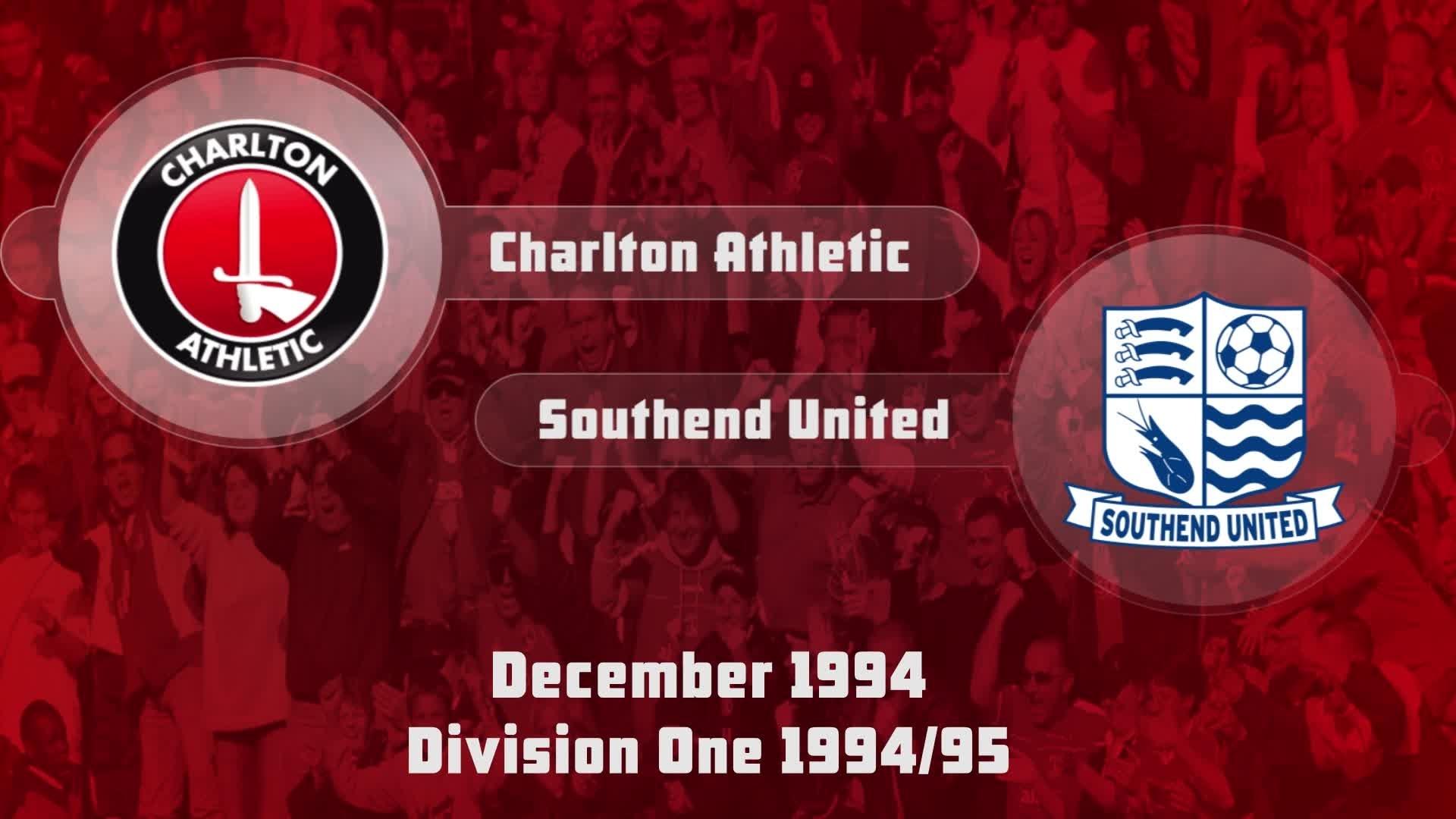 24 HIGHLIGHTS | Charlton 3 Southend 1 (Dec 1994)