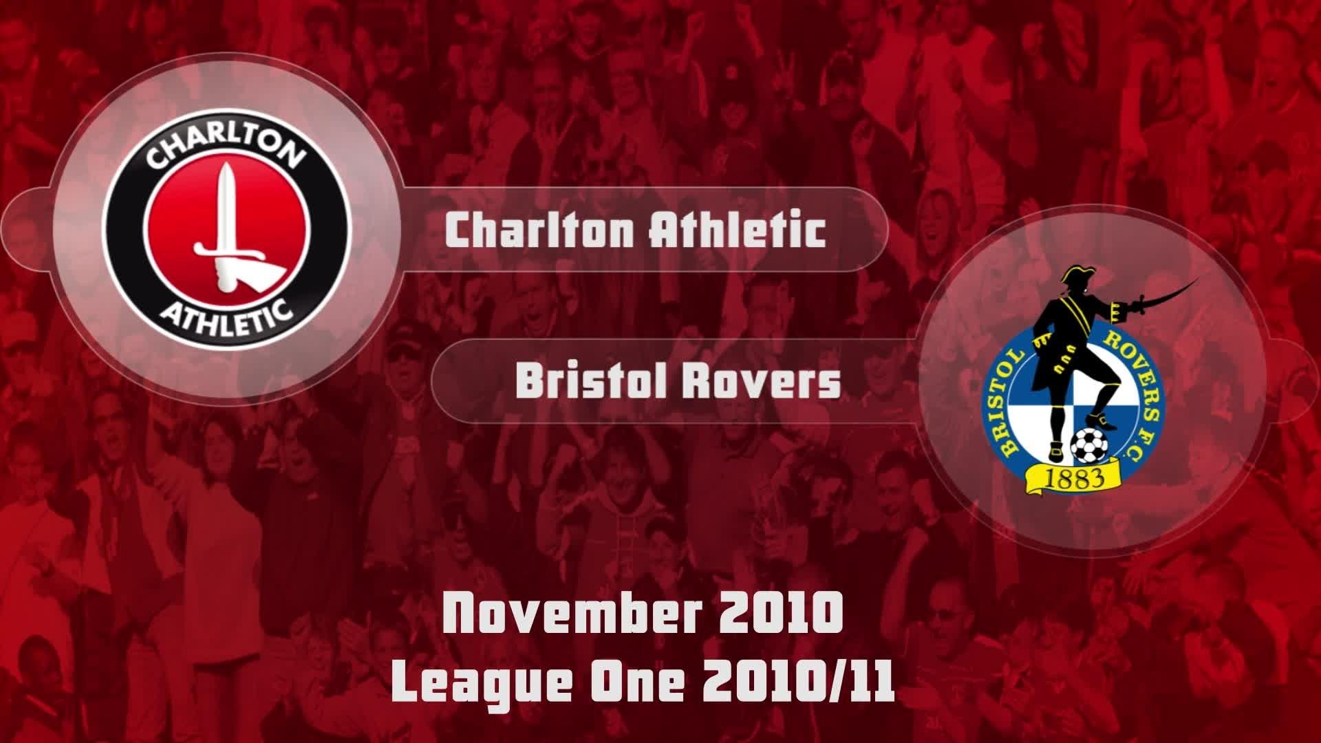 24 HIGHLIGHTS | Charlton 1 Bristol Rovers 1 (Nov 2010)