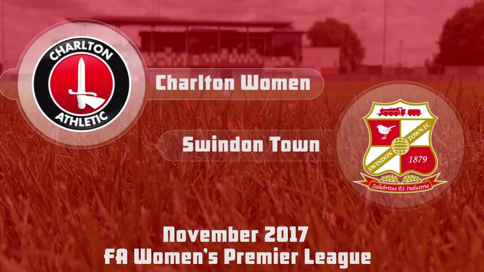 WOMEN'S HIGHLIGHTS | Charlton 11 Swindon Town 0