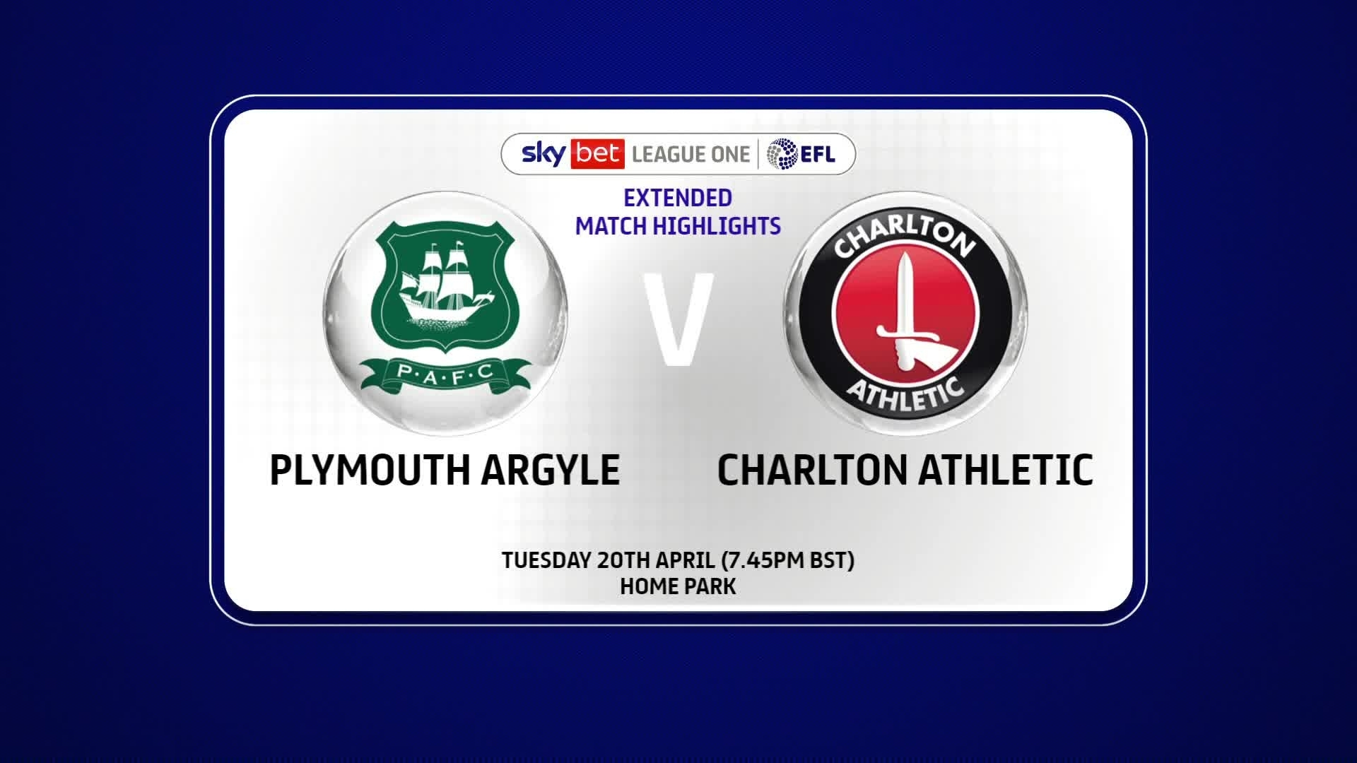 EXTENDED | Plymouth 0 Charlton 6 (April 2021)