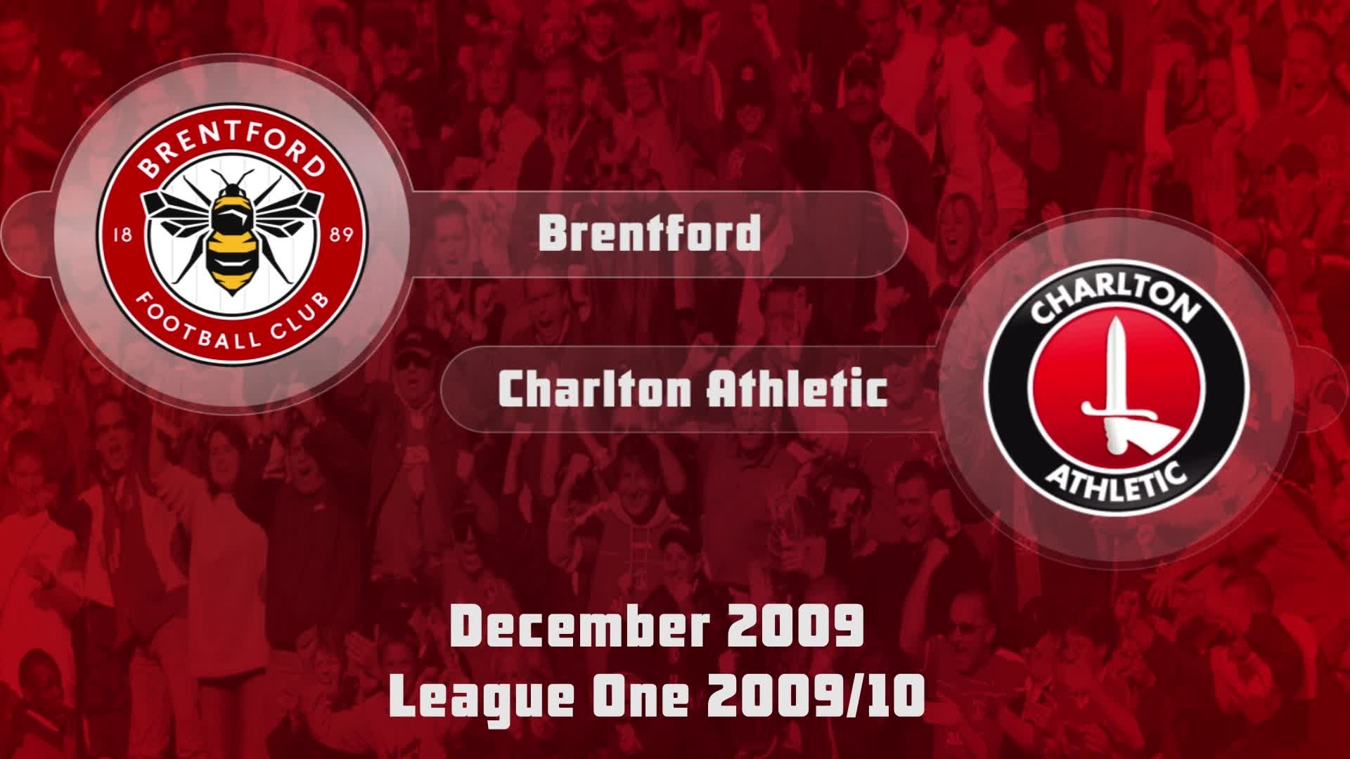 28 HIGHLIGHTS | Brentford 1 Charlton 1 (Dec 2009)