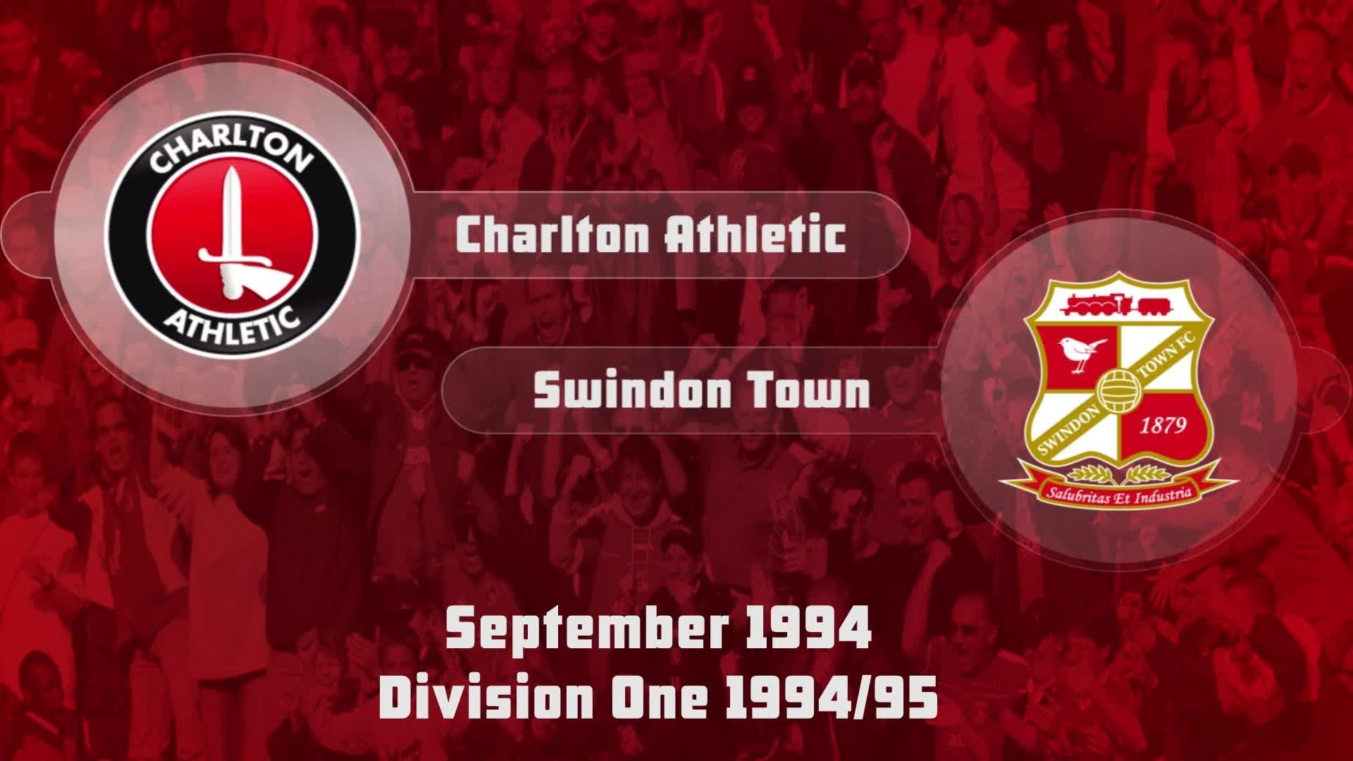 08 HIGHLIGHTS | Charlton 1 Swindon 0 (Sept 1994)