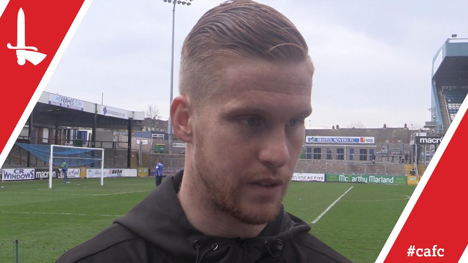 "Goalkeeper Ben Amos on Charlton's ""battling performance"" at Bristol Rovers"