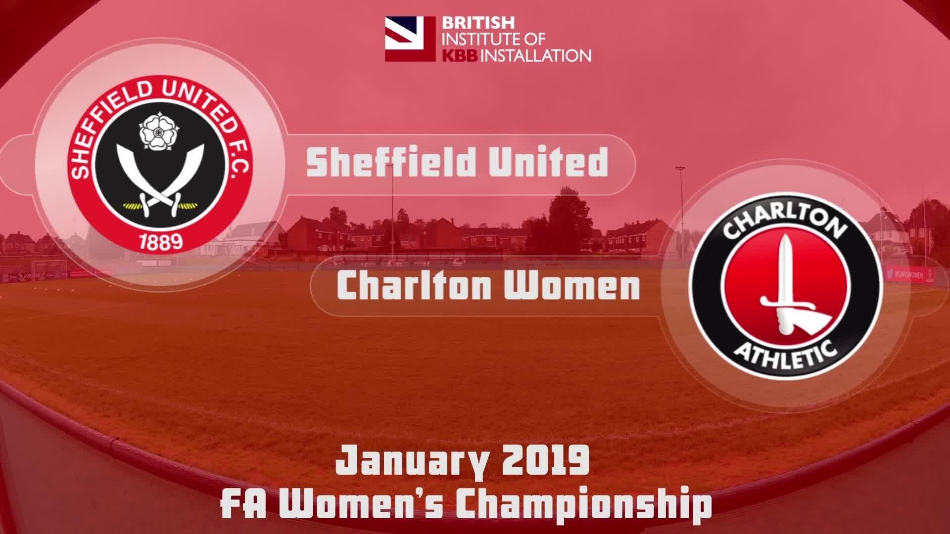 WOMEN HIGHLIGHTS | Sheffield United 2 Charlton 3 (Jan 2019)