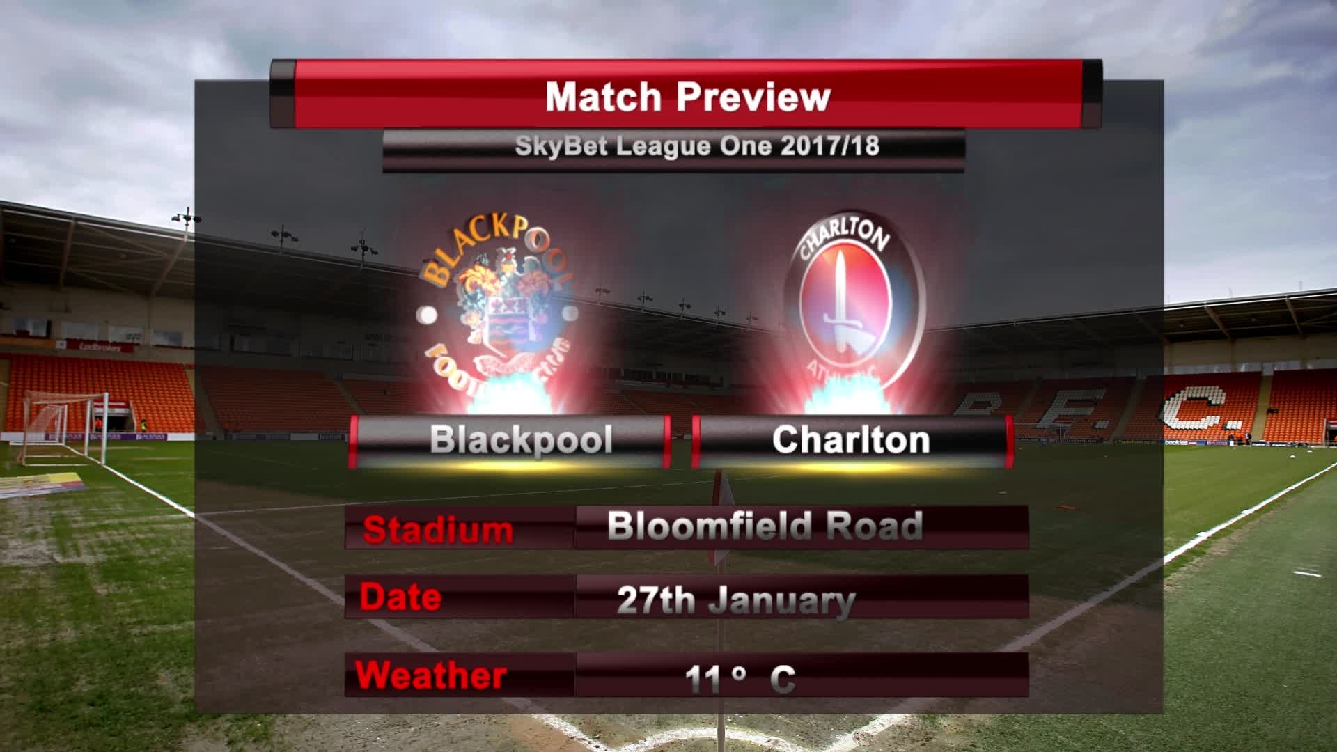 MATCH PREVIEW |  Blackpool vs Charlton