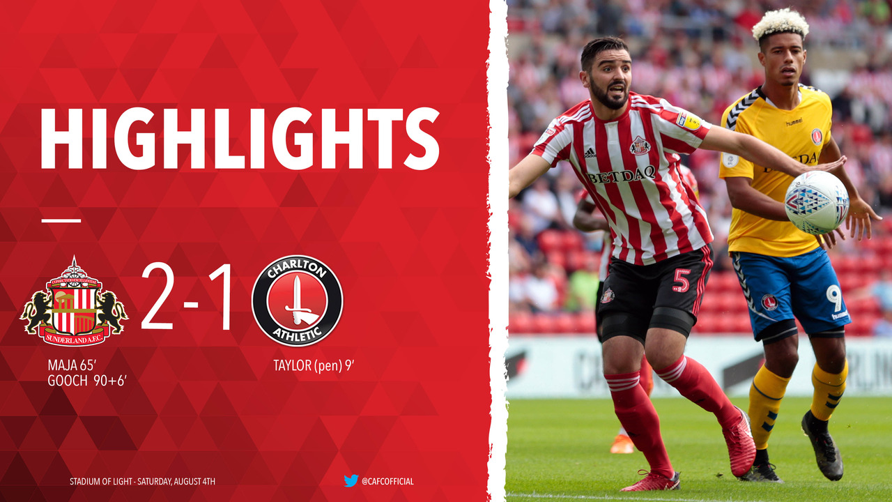01 HIGHLIGHTS | Sunderland 2 Charlton 1 (August 2018)