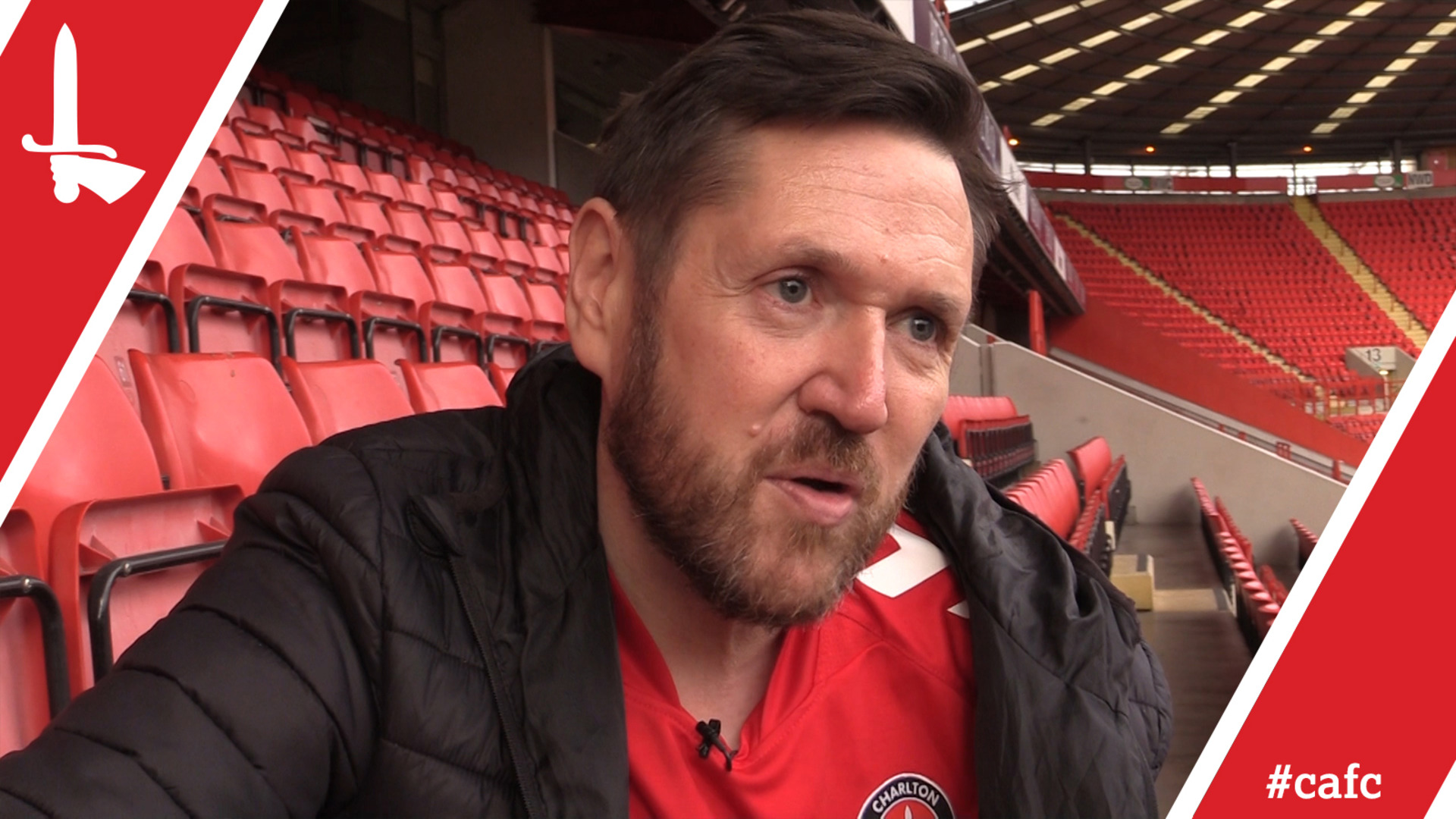 Proud Valiant Chairperson Rob Harris speaks ahead of Charlton's Football v Homophobia match