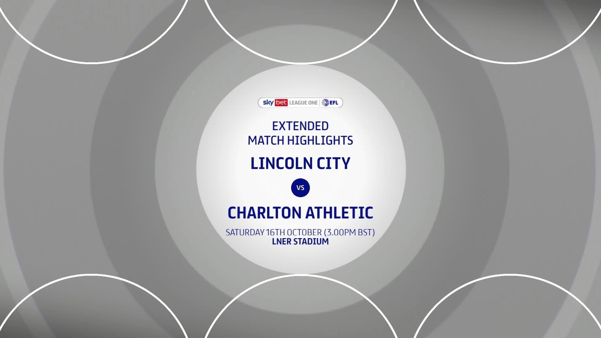 HIGHLIGHTS | Lincoln City 2 Charlton 1 (October 2021)