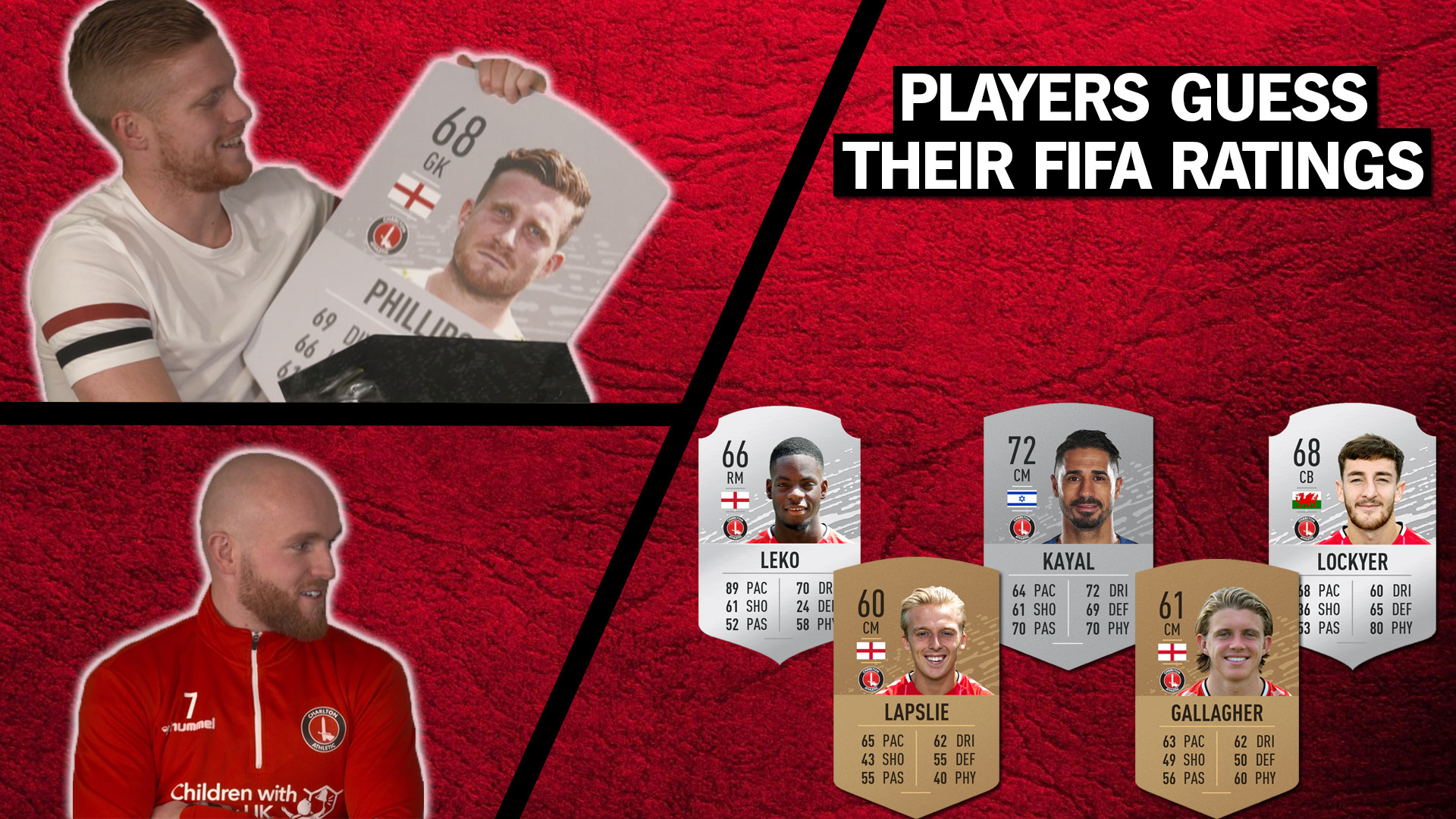 Charlton players guess their FIFA 20 ratings! | (Williams & Hemed vs JFC & Amos)