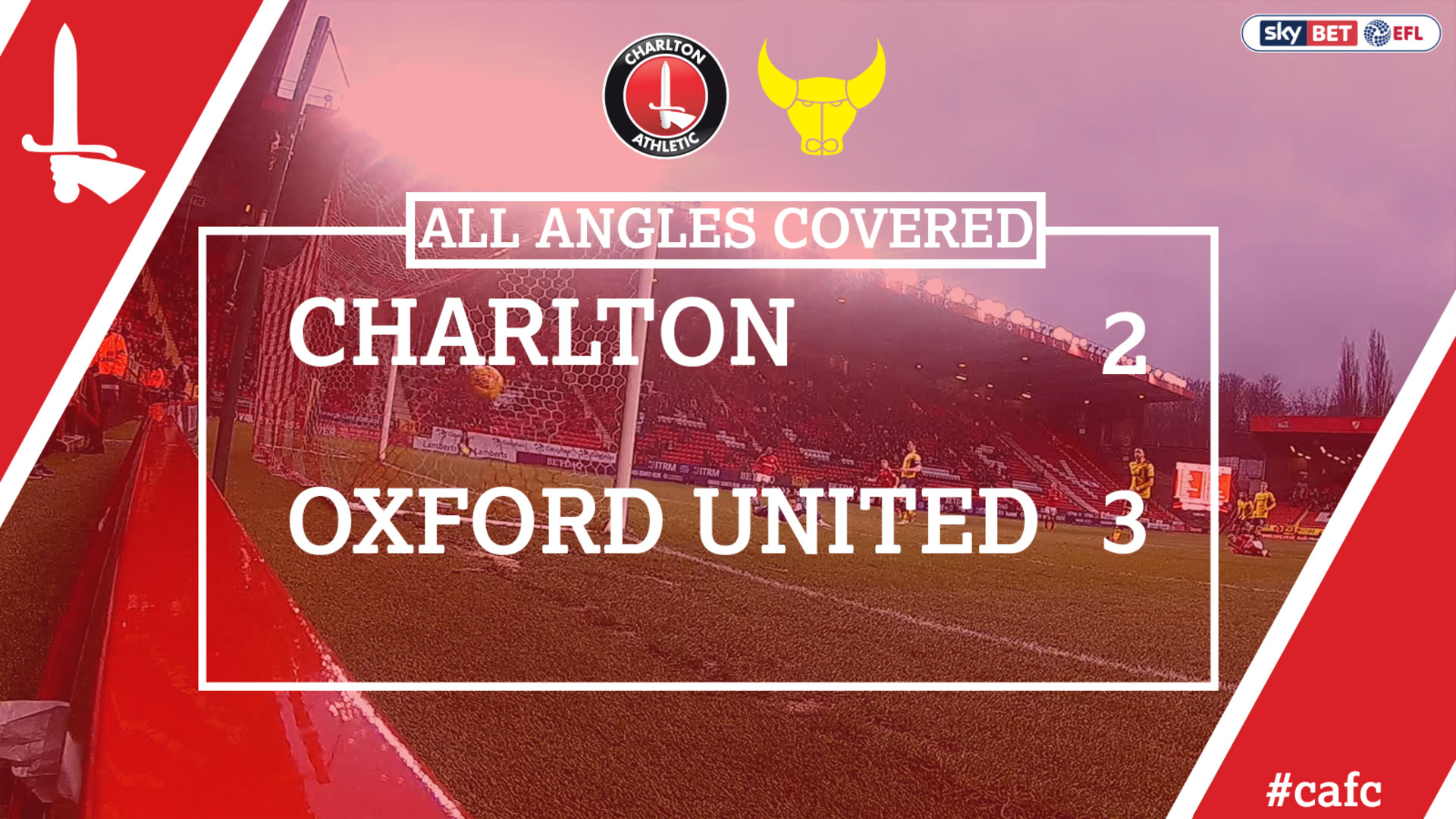 ALL ANGLES COVERED | Charlton 2 Oxford 3 (Feb 2018)