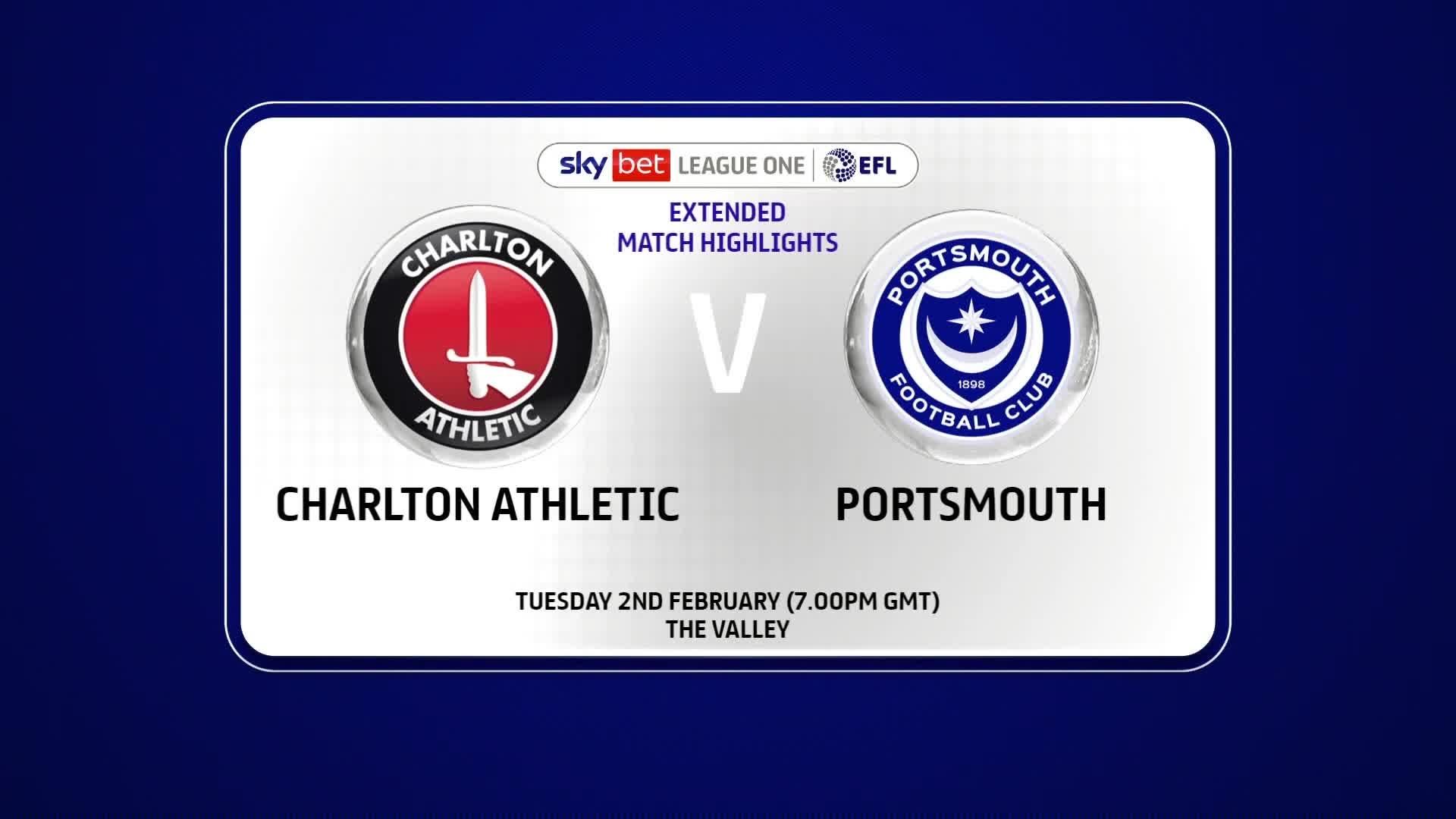 EXTENDED | Charlton 1 Portsmouth 3 (Feb 2021)