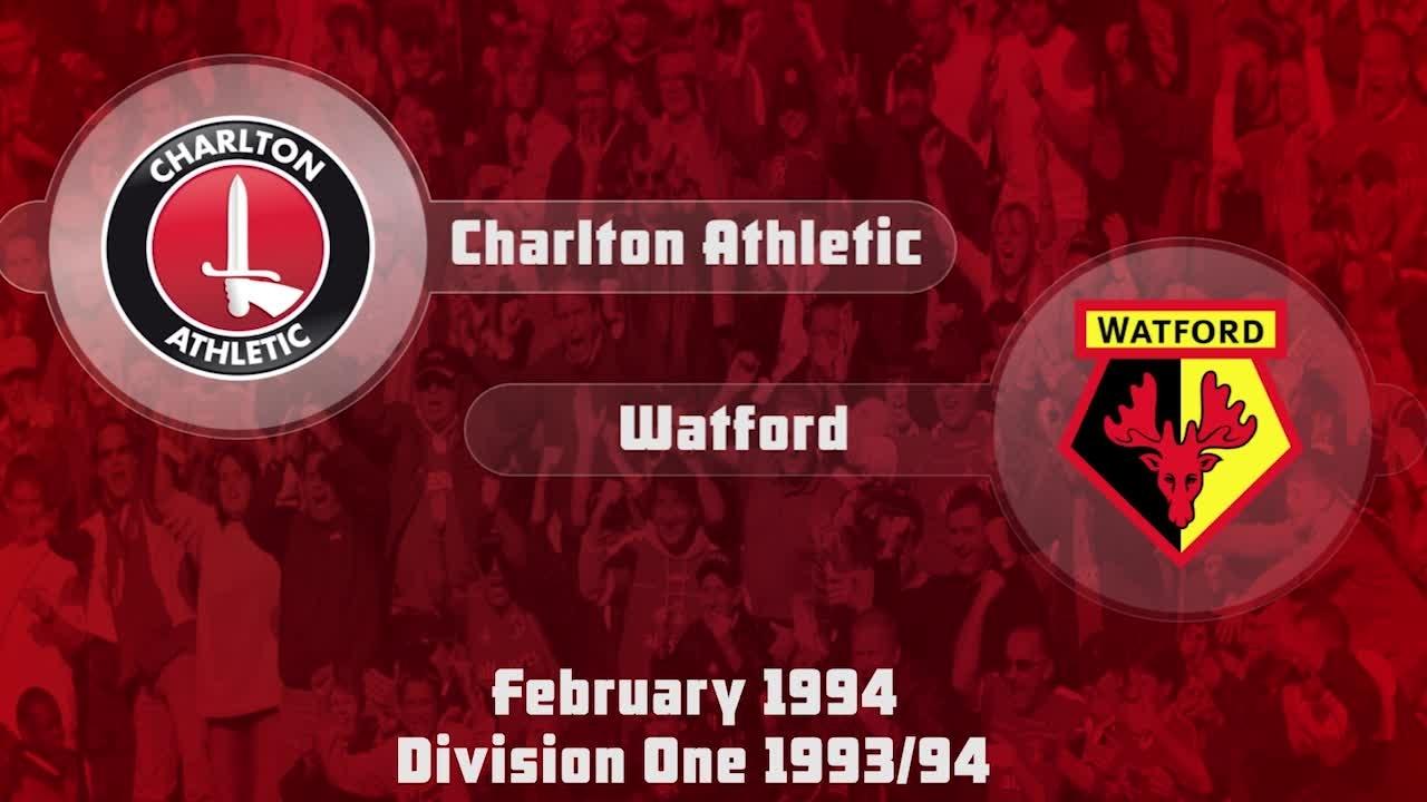 43 HIGHLIGHTS | Charlton 2 Watford 1 (Feb 1994)