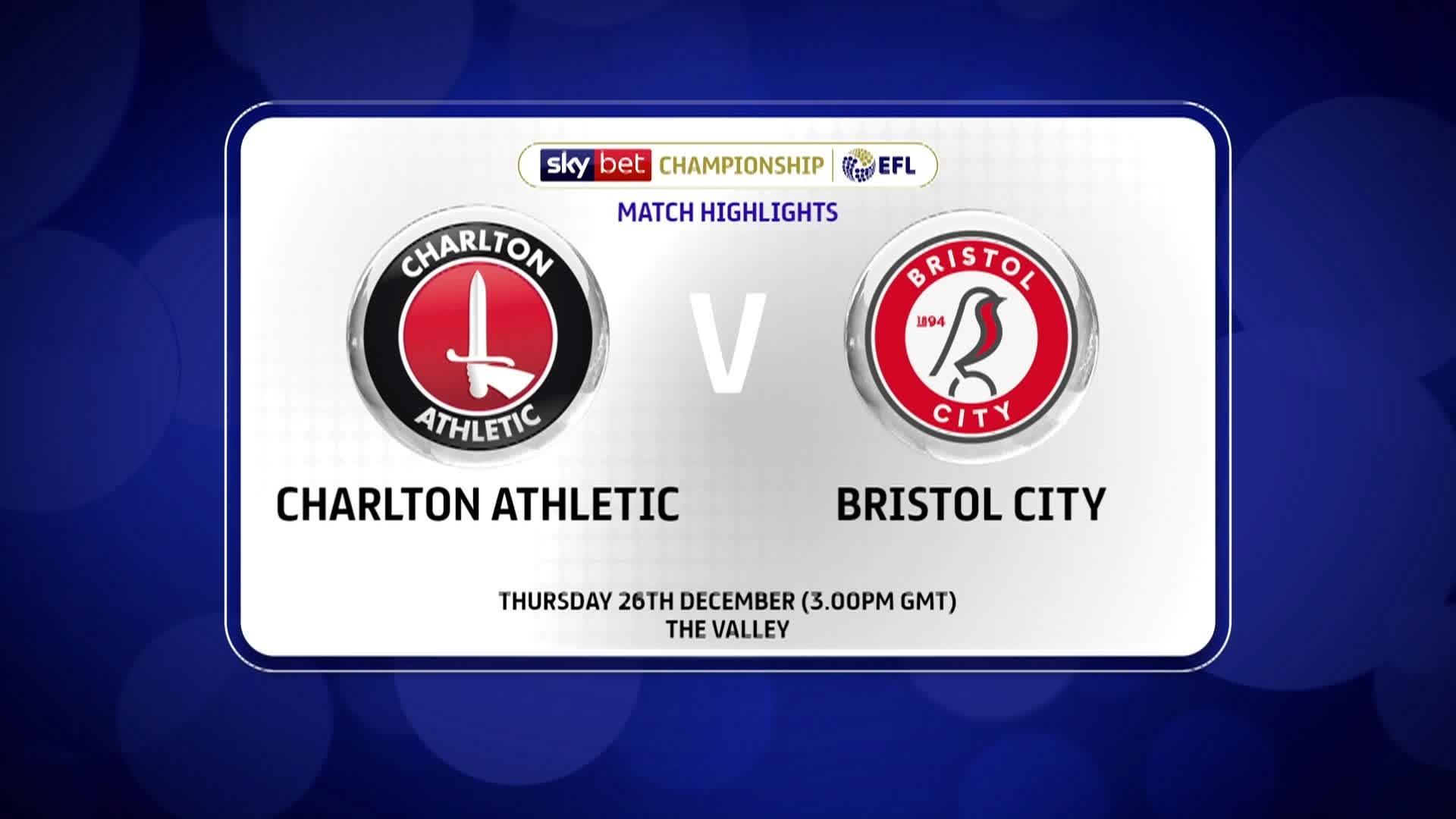 GOALS | Charlton 3 Bristol City 2 (December 2019)