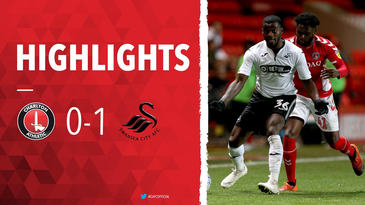 22 HIGHLIGHTS | Charlton 0 Swansea City U21 1 (EFL Trophy November 2018)
