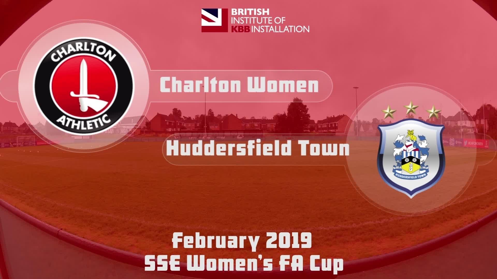 WOMEN'S HIGHLIGHTS | Charlton Women 3 Huddersfield 3 (Women's FA Cup Feb 2019)