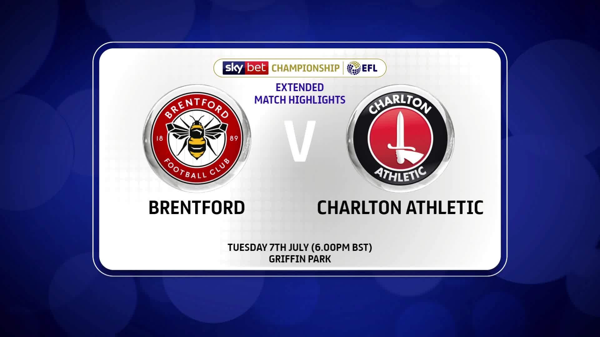 EXTENDED HIGHLIGHTS | Brentford 2 Charlton 1 (July 2020)