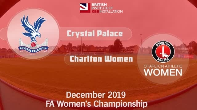 WOMEN'S HIGHLIGHTS | Crystal Palace 1 Charlton Women 1 (Dec 2019)
