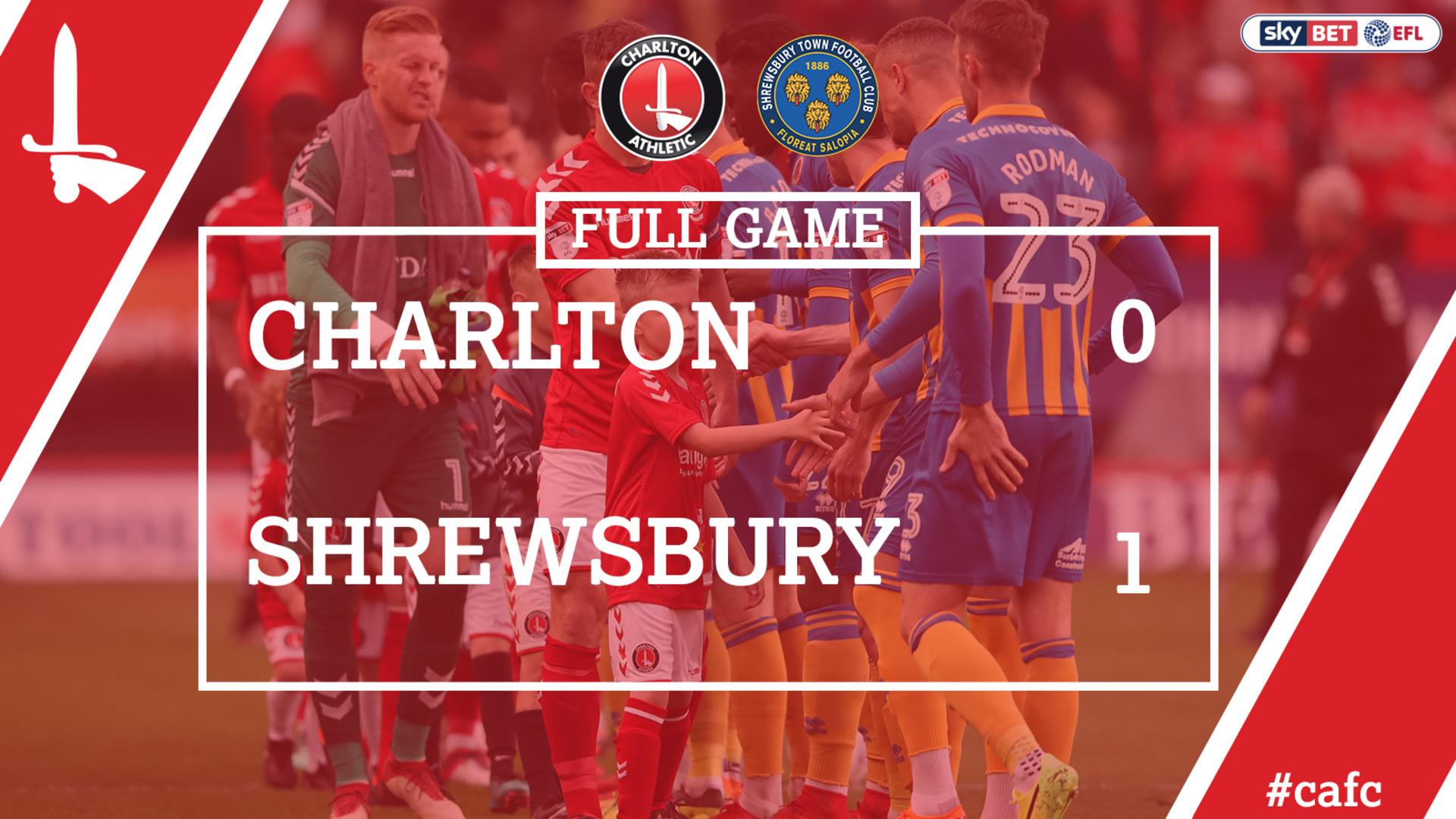 FULL GAME | Charlton 0 Shrewsbury 1 (May 2018)