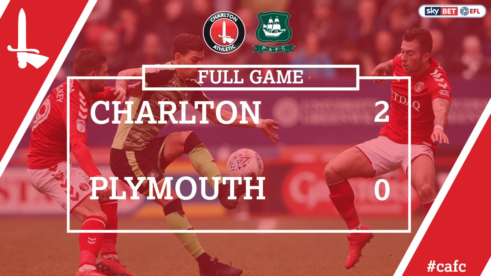 FULL GAME | Charlton 2 Plymouth 0 (Mar 2018)