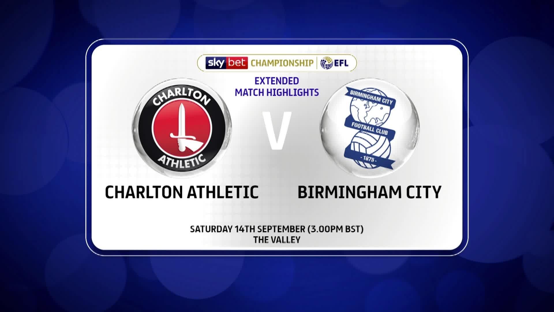 HIGHLIGHTS | Charlton 0 Birmingham City 1 (September 2019)