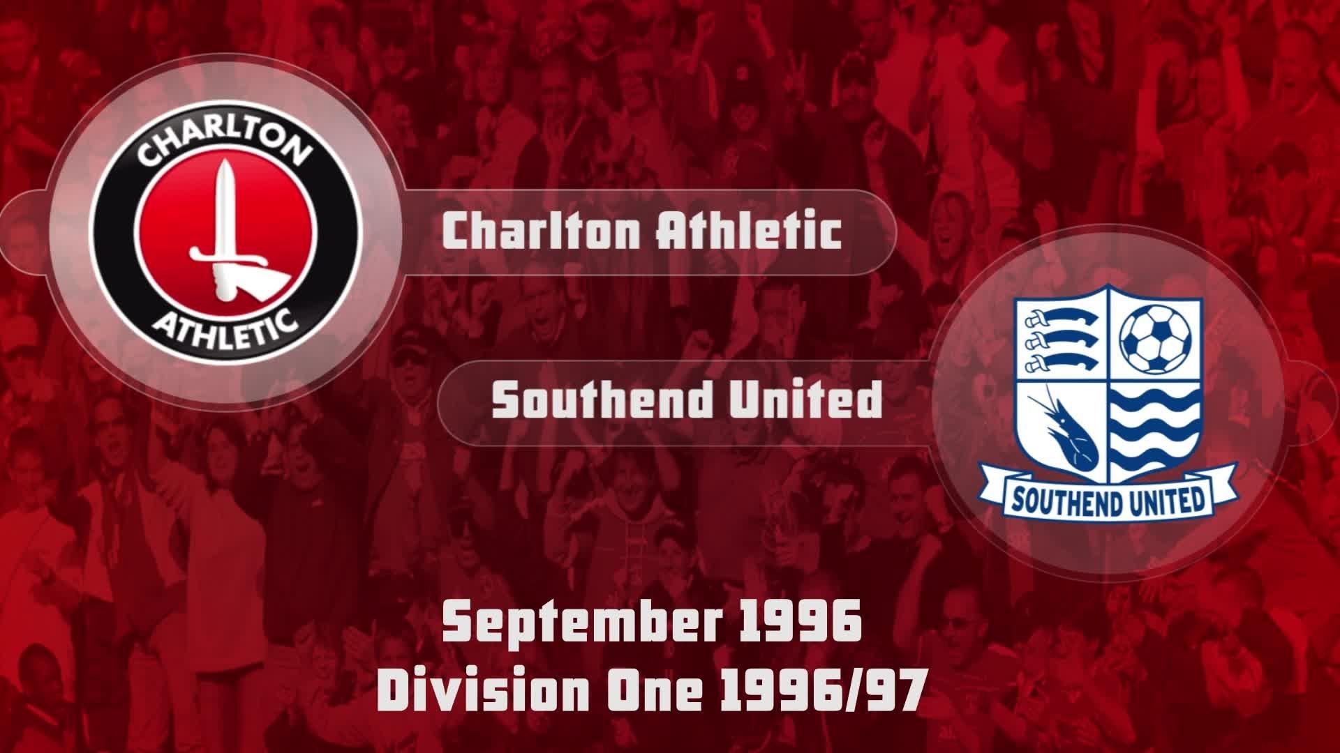 05 HIGHLIGHTS | Charlton 2 Southend 0 (Sept 1996)