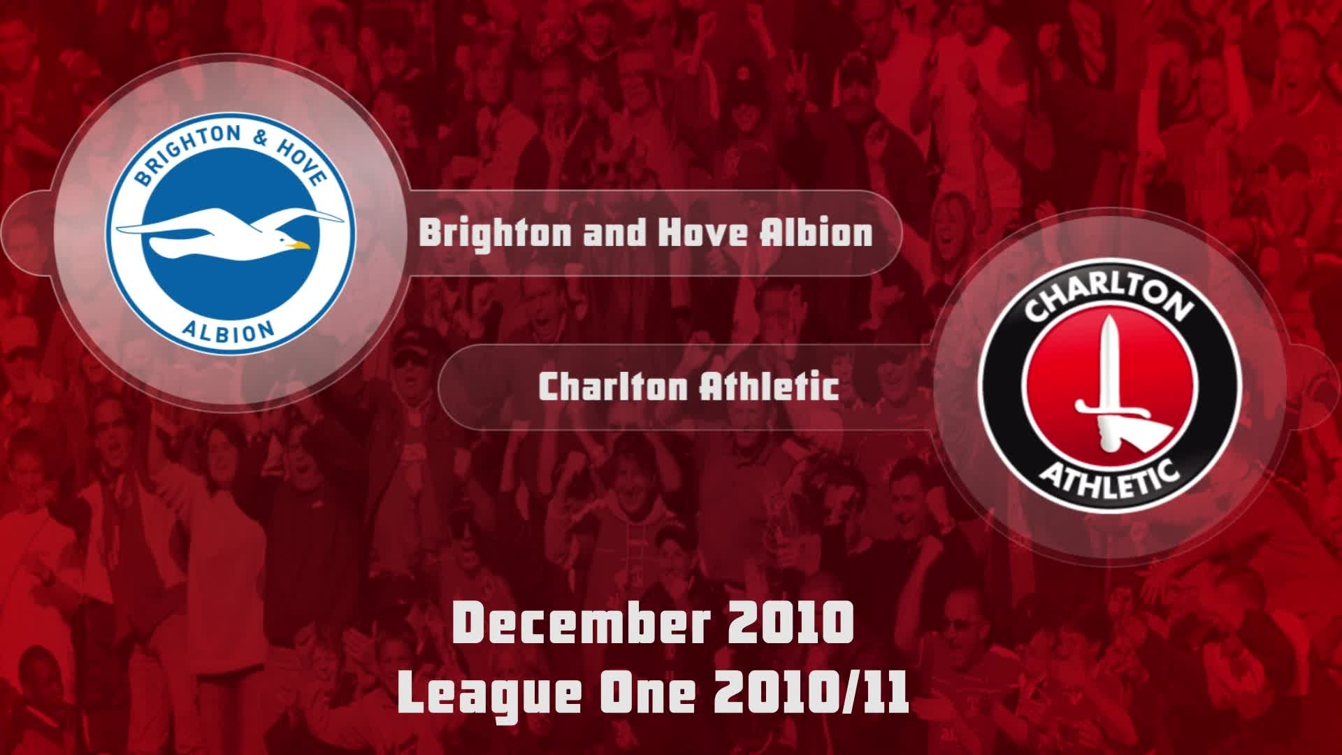 29 HIGHLIGHTS | Brighton and Hove 1 Charlton 1 (Dec 2010)