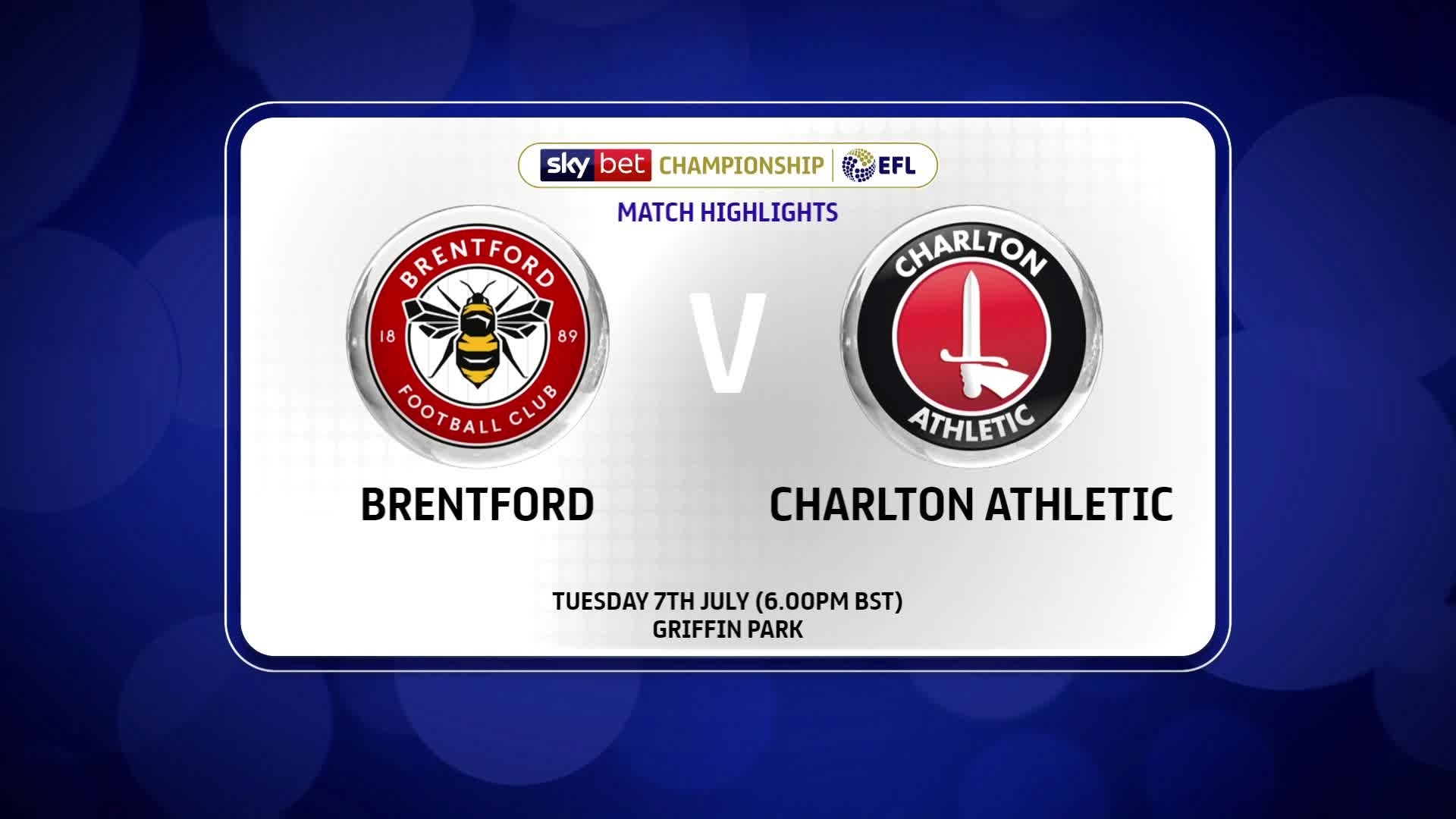 HIGHLIGHTS | Brentford 2 Charlton 1 (July 2020)