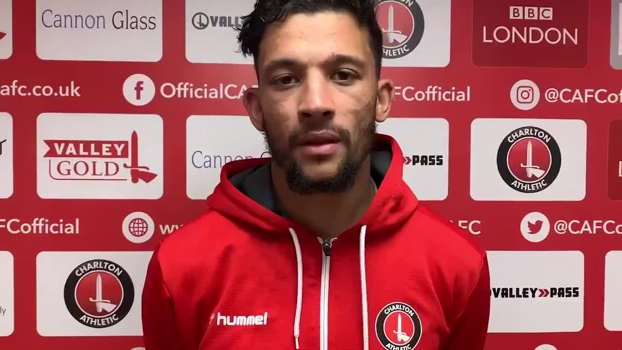 Macauley Bonne on his late equaliser against Wigan Athletic (July 2020)