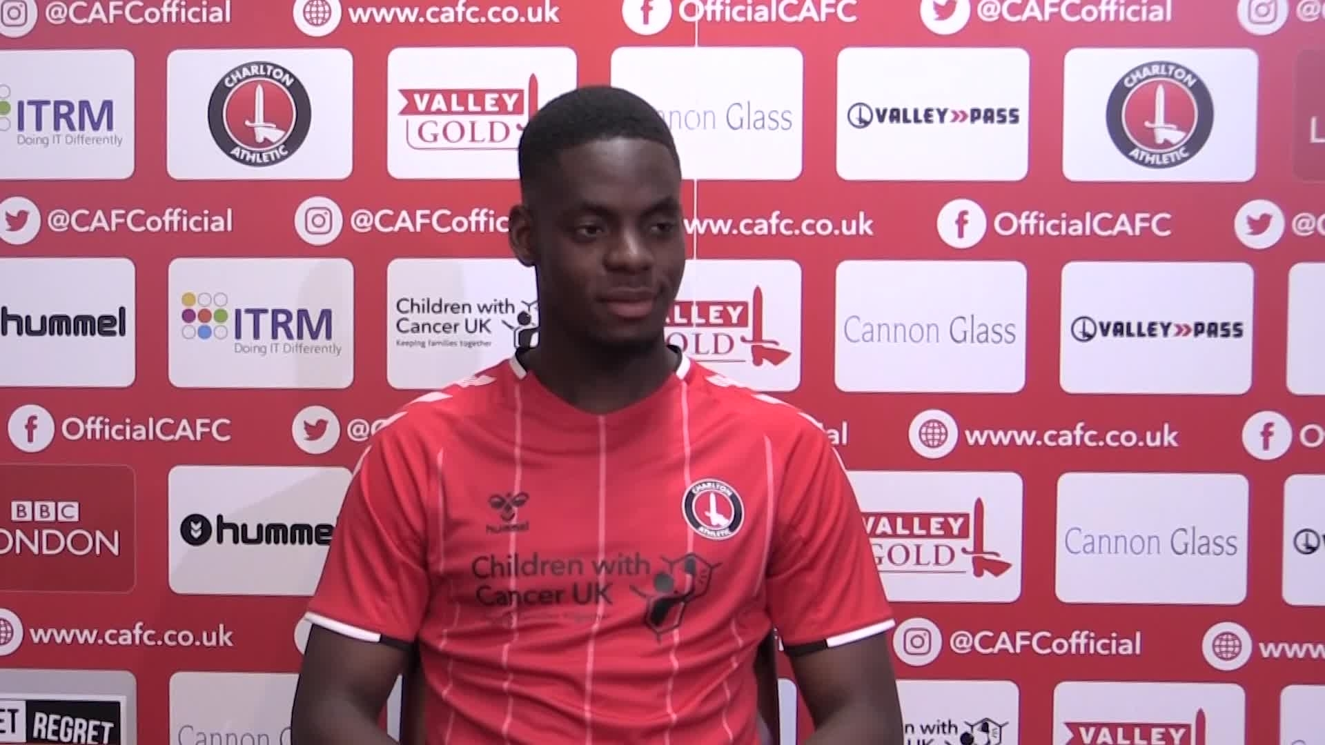 Jonathan Leko's first interview for Charlton Athletic