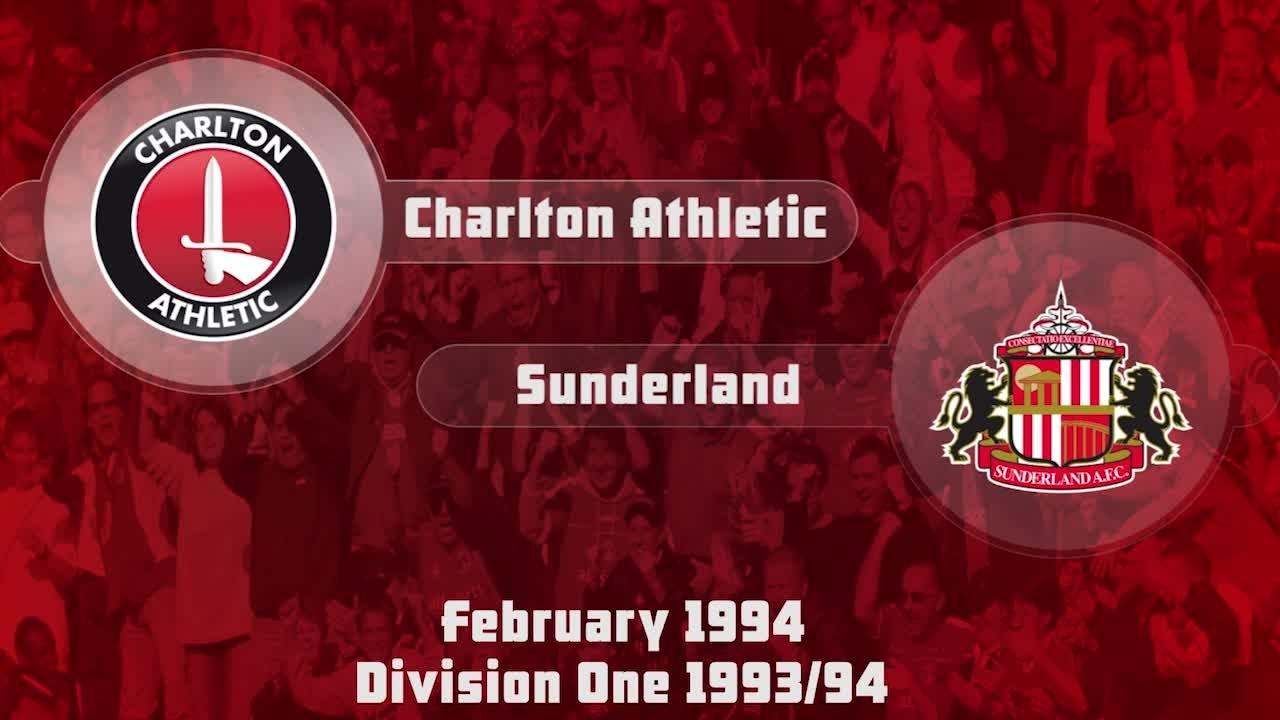 42 HIGHLIGHTS | Charlton 0 Sunderland 0 (Feb 1994)