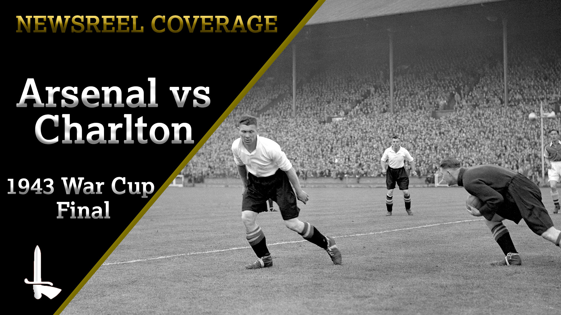 NEWSREEL | Arsenal 7 Charlton 1 (War Cup Final 1943)