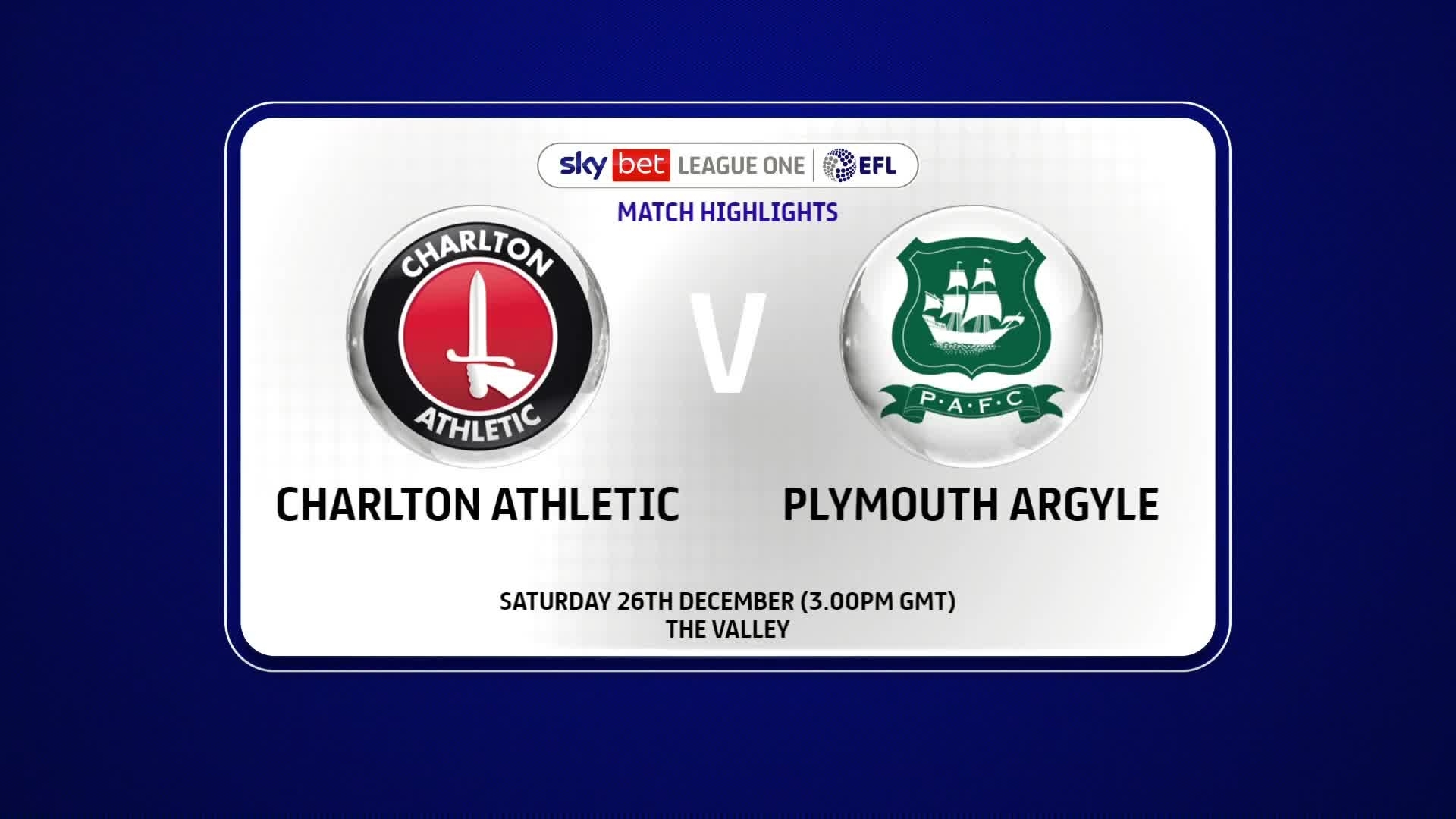 HIGHLIGHTS   Charlton 2 Plymouth Argyle 2 (December 2020)