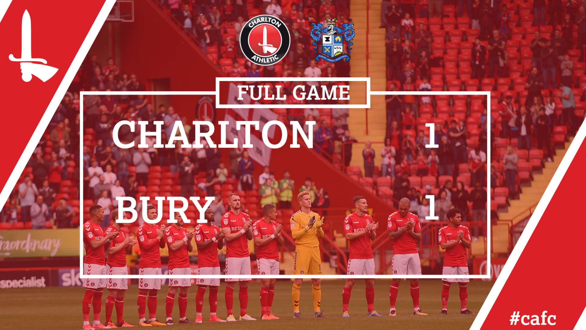 FULL GAME | Charlton 1 Bury 1 (Sept 2017)